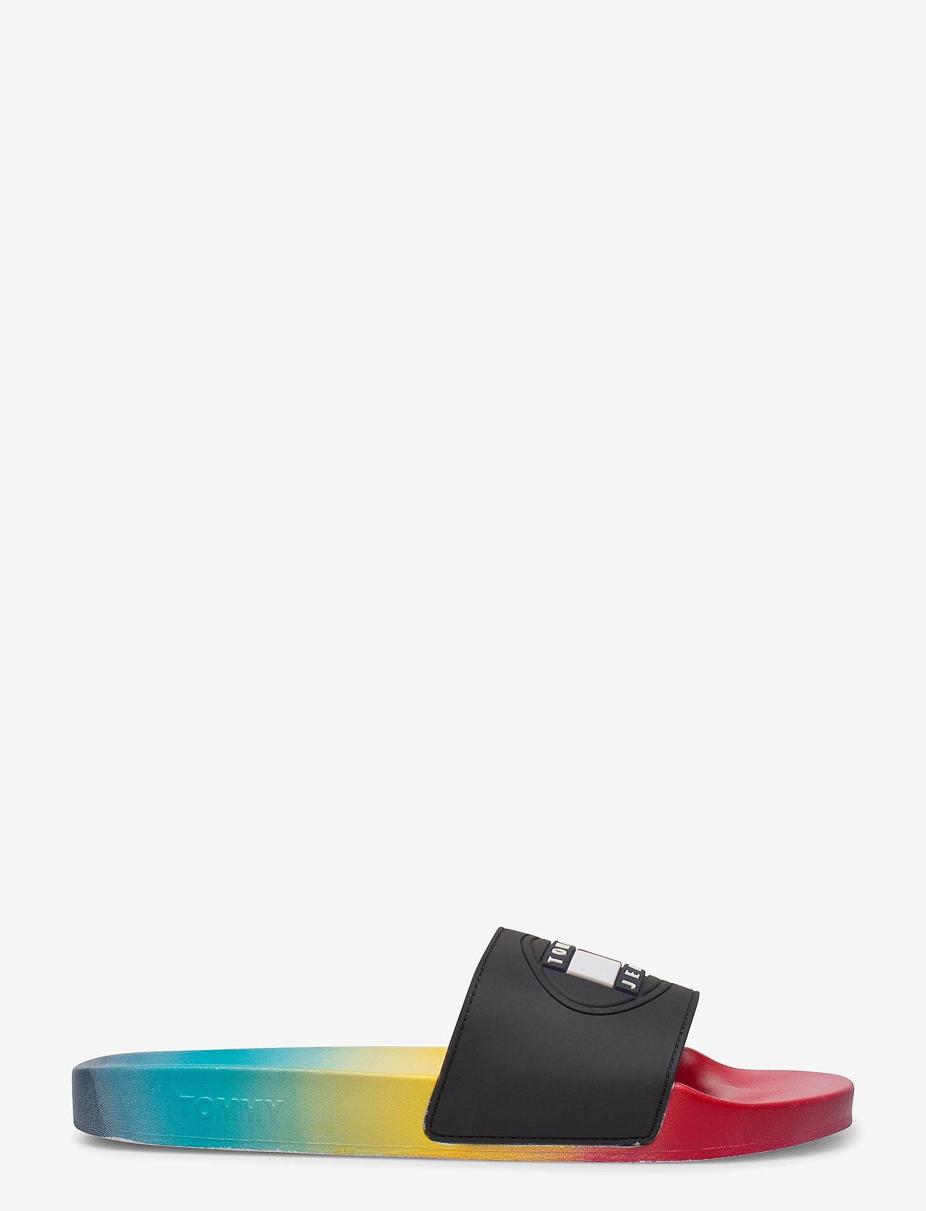 Tommy Hilfiger - DEGRADE SEASONAL FLAG SLIDE - pool sliders - light cerise pink - 1