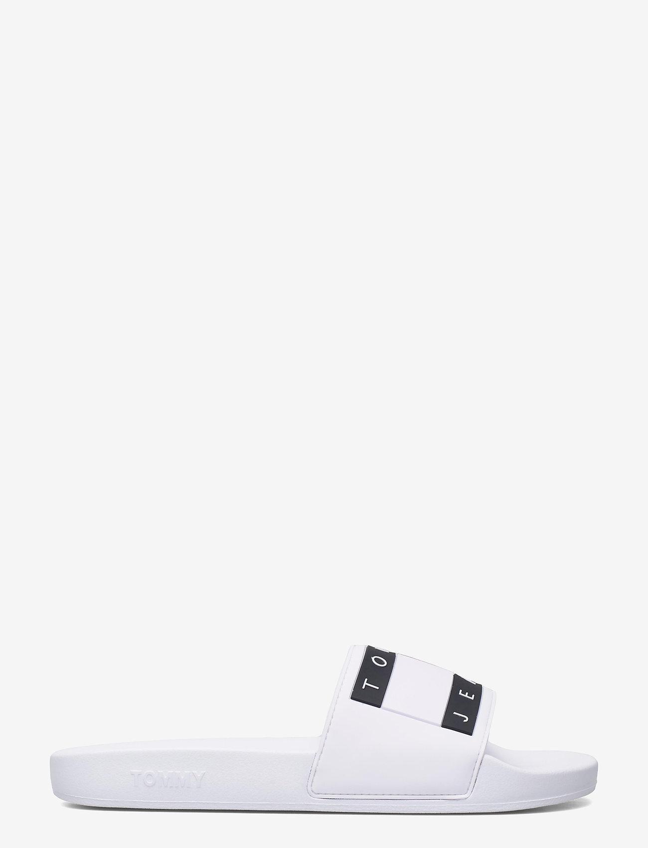 Tommy Hilfiger - TOMMY JEANS FLAG POOL SLIDE - pool sliders - white - 1