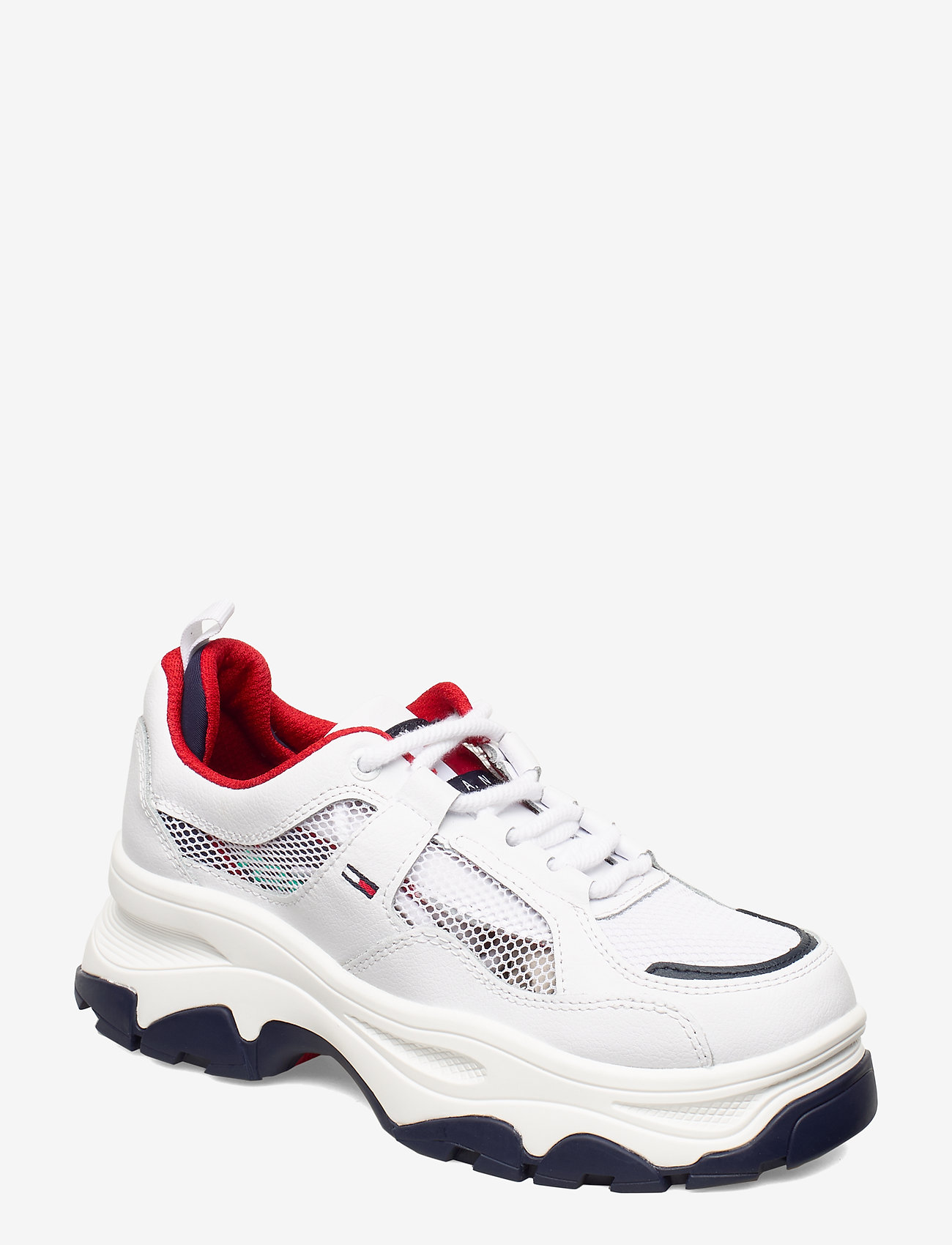 Tommy Hilfiger - RECYCLED MESH FLATFORM SHOE - chunky sneakers - twillight navy - 0