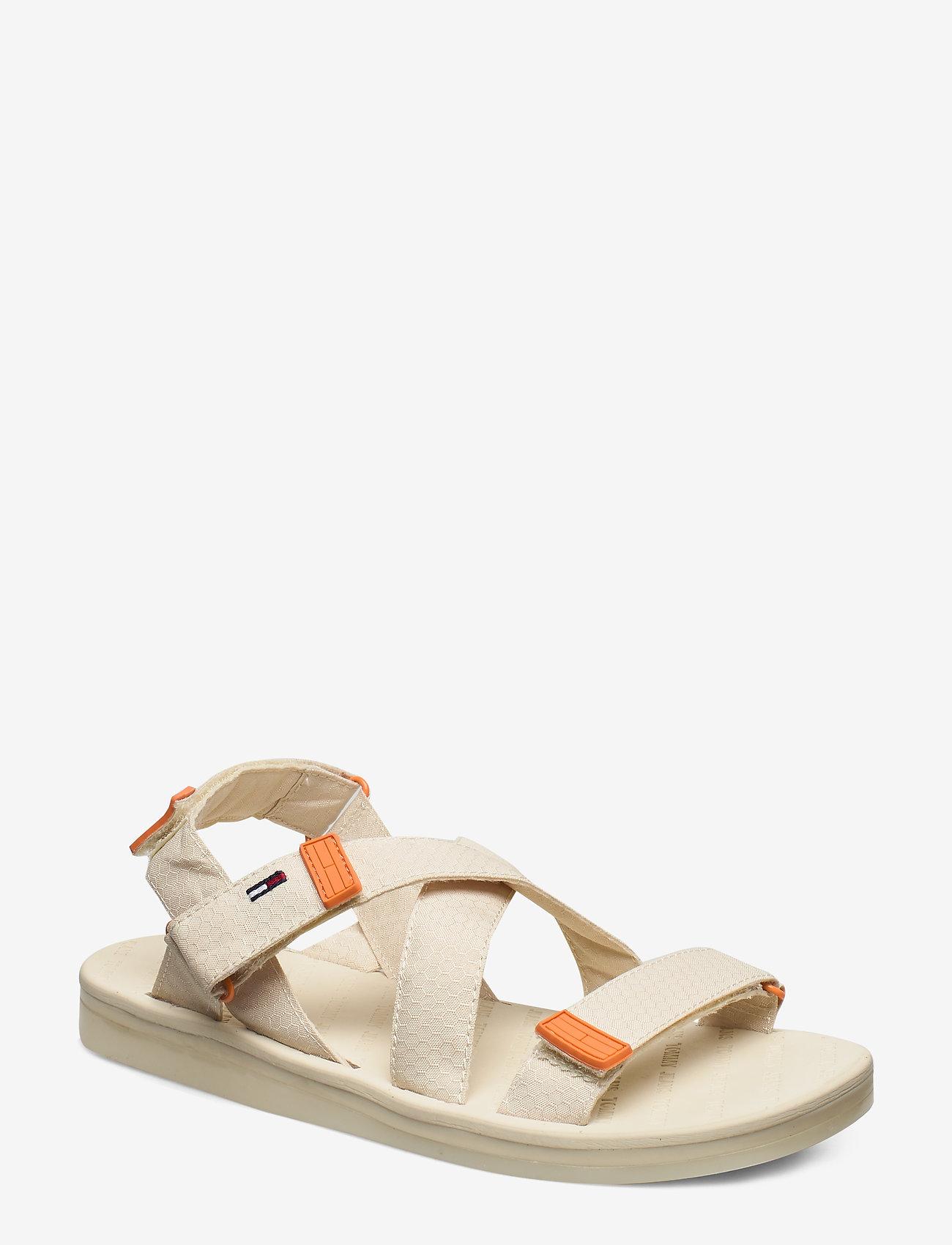 Tommy Hilfiger - TOMMY SURPLUS FLAT SANDAL - flat sandals - light silt - 0