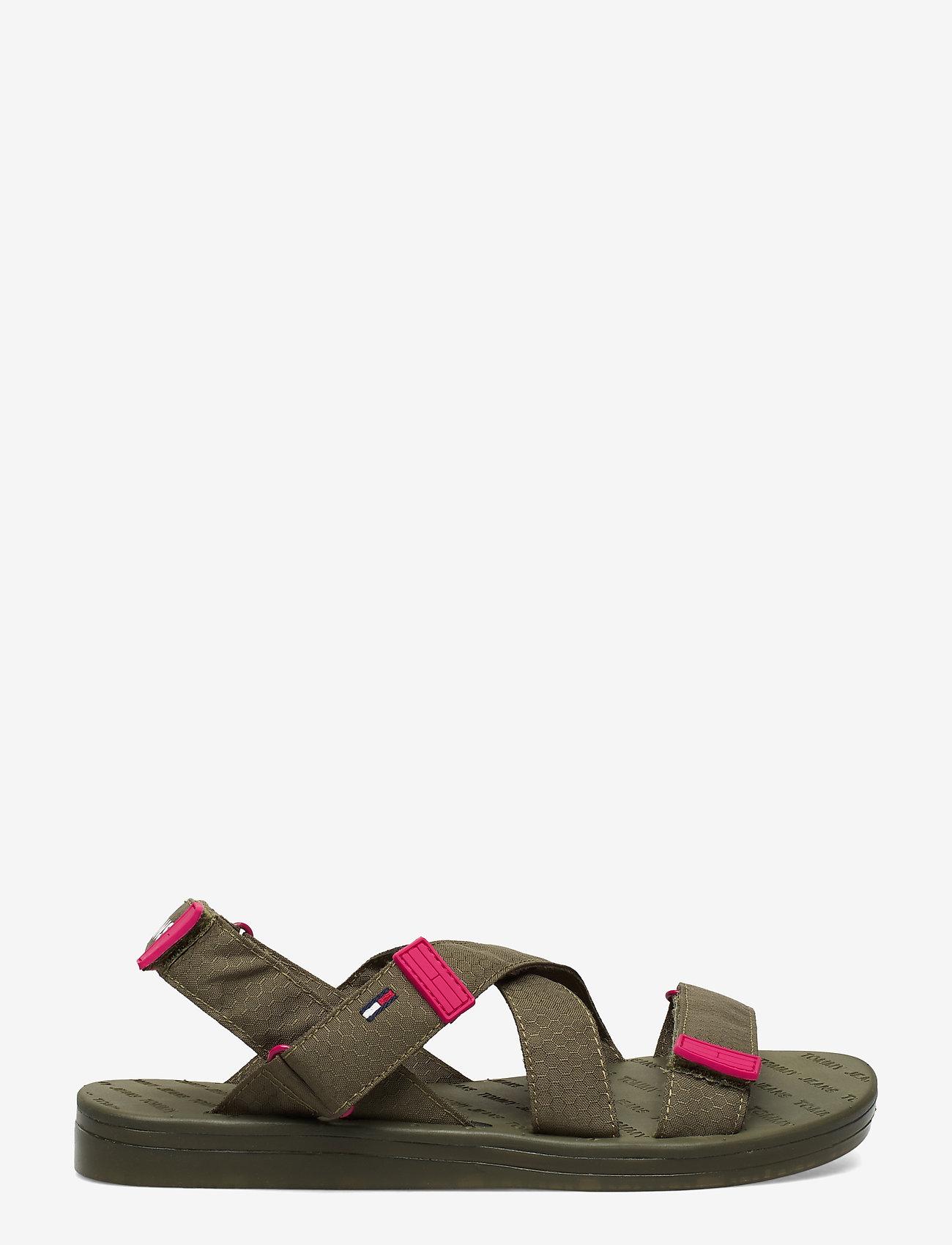 Tommy Hilfiger - TOMMY SURPLUS FLAT SANDAL - flade sandaler - olive tree - 1