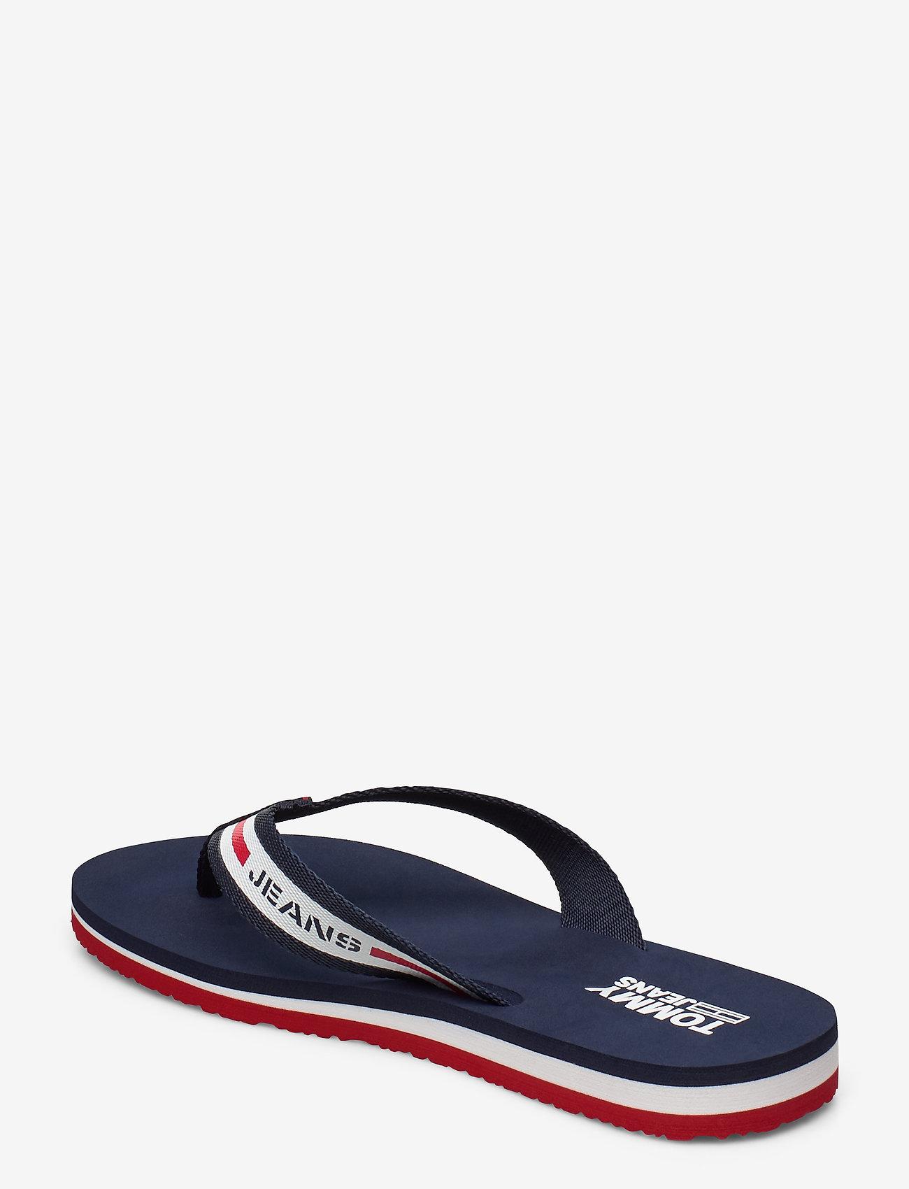 Chunky Tape Flat Beach Sandal (Twillight Navy) - Tommy Hilfiger