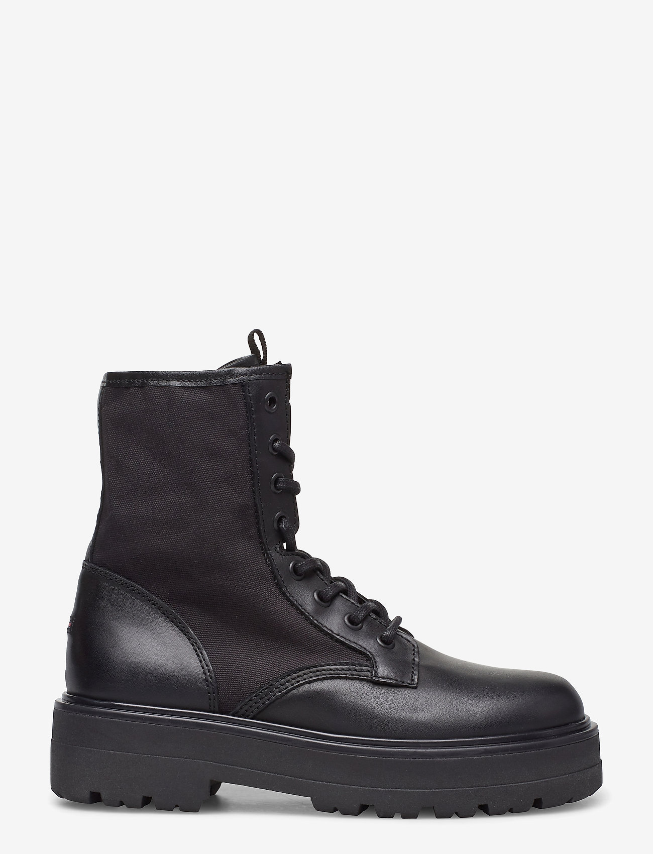 Tommy Hilfiger - TOMMY JEANS FLATFORM BOOT - flat ankle boots - black - 1