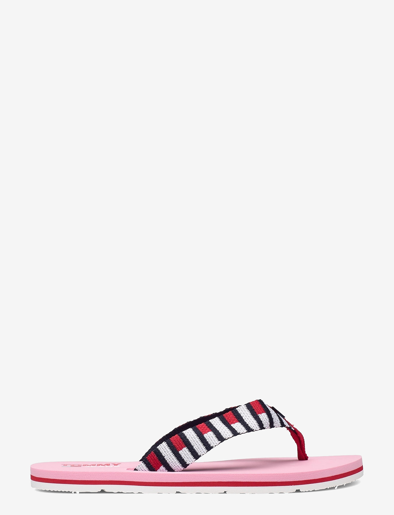 Tommy Hilfiger - FLAG WEBBING BEACH SANDAL - flat sandals - bubble pink - 1