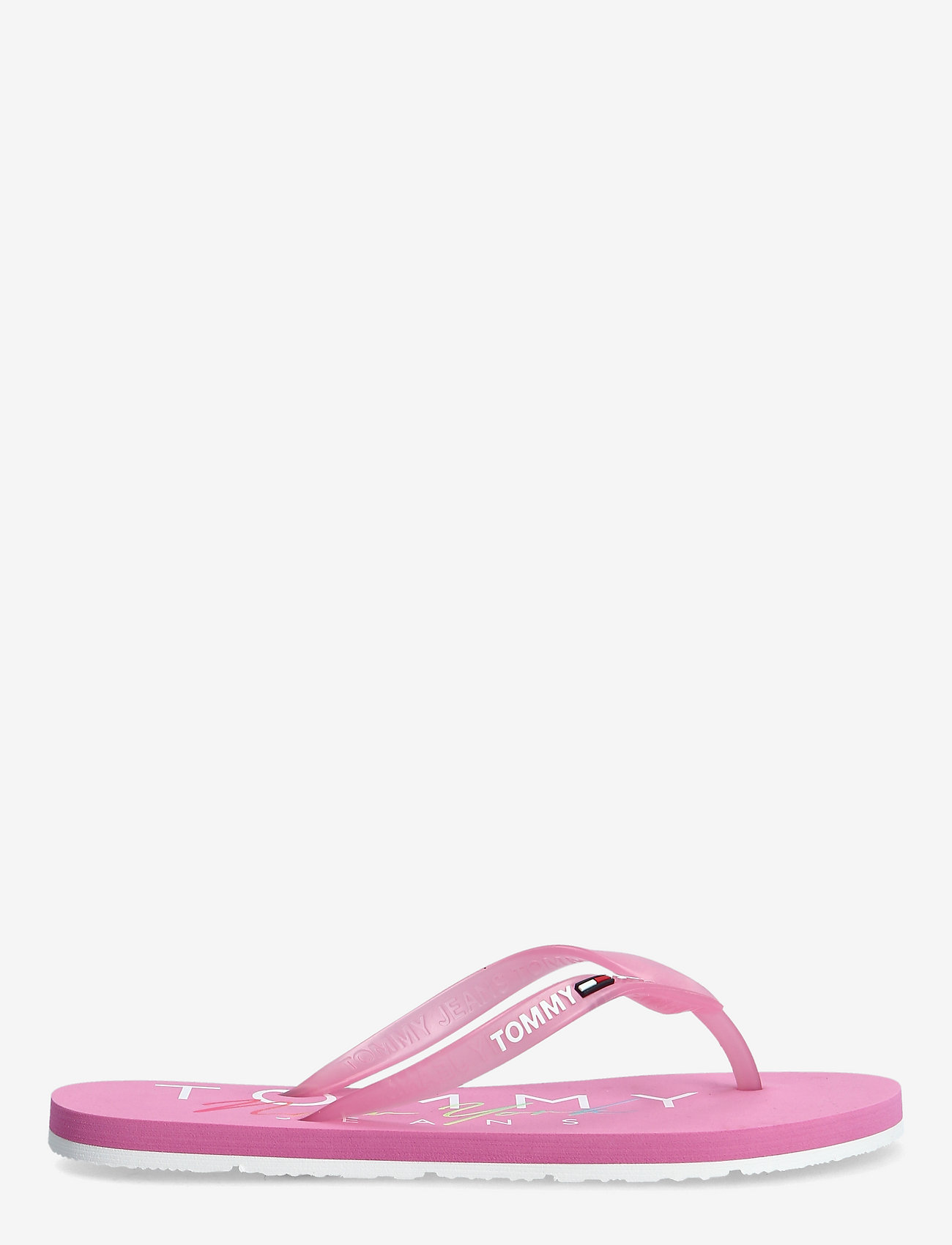 Tommy Hilfiger - RUBBER THONG BEACH SANDAL - teenslippers - pink daisy - 1