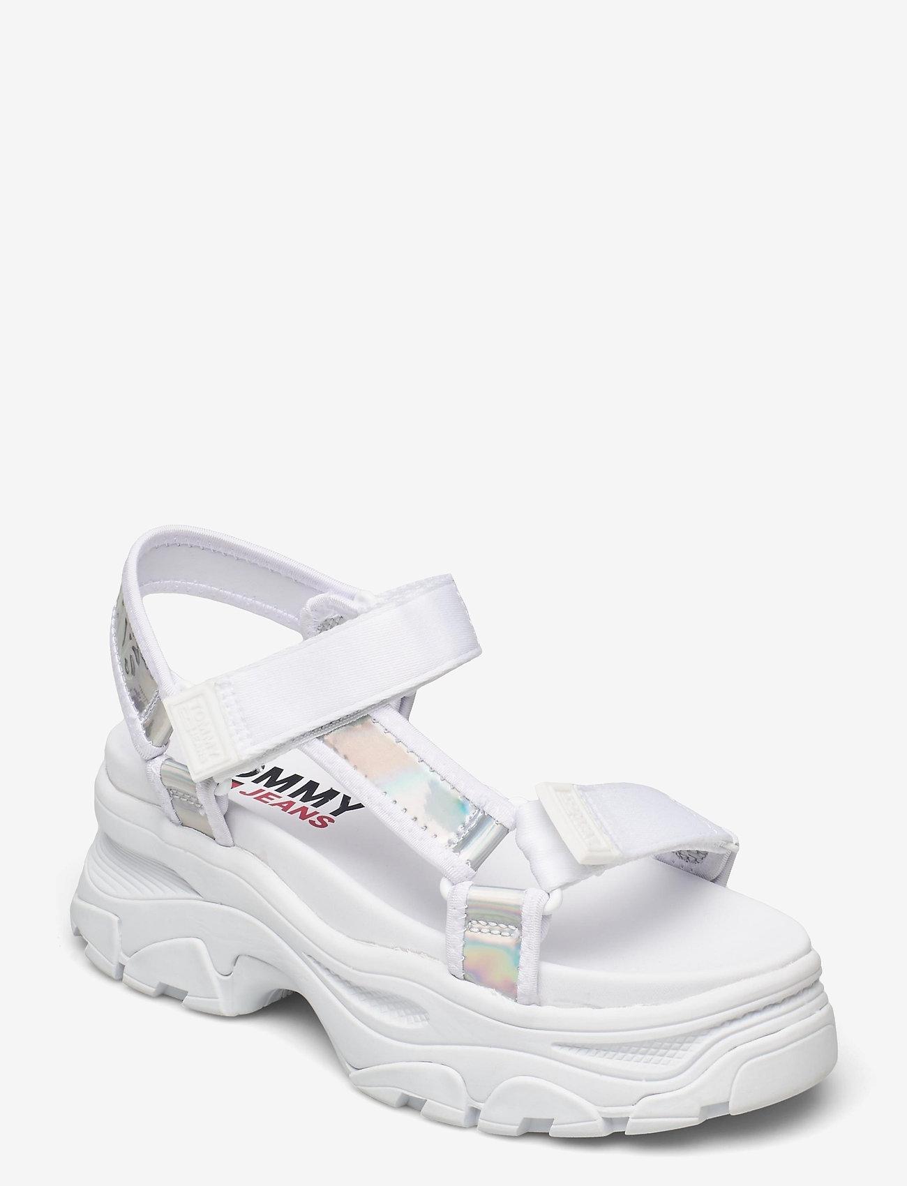 Tommy Hilfiger - IRIDESCENT HYBRID SANDAL - flat sandals - white - 0
