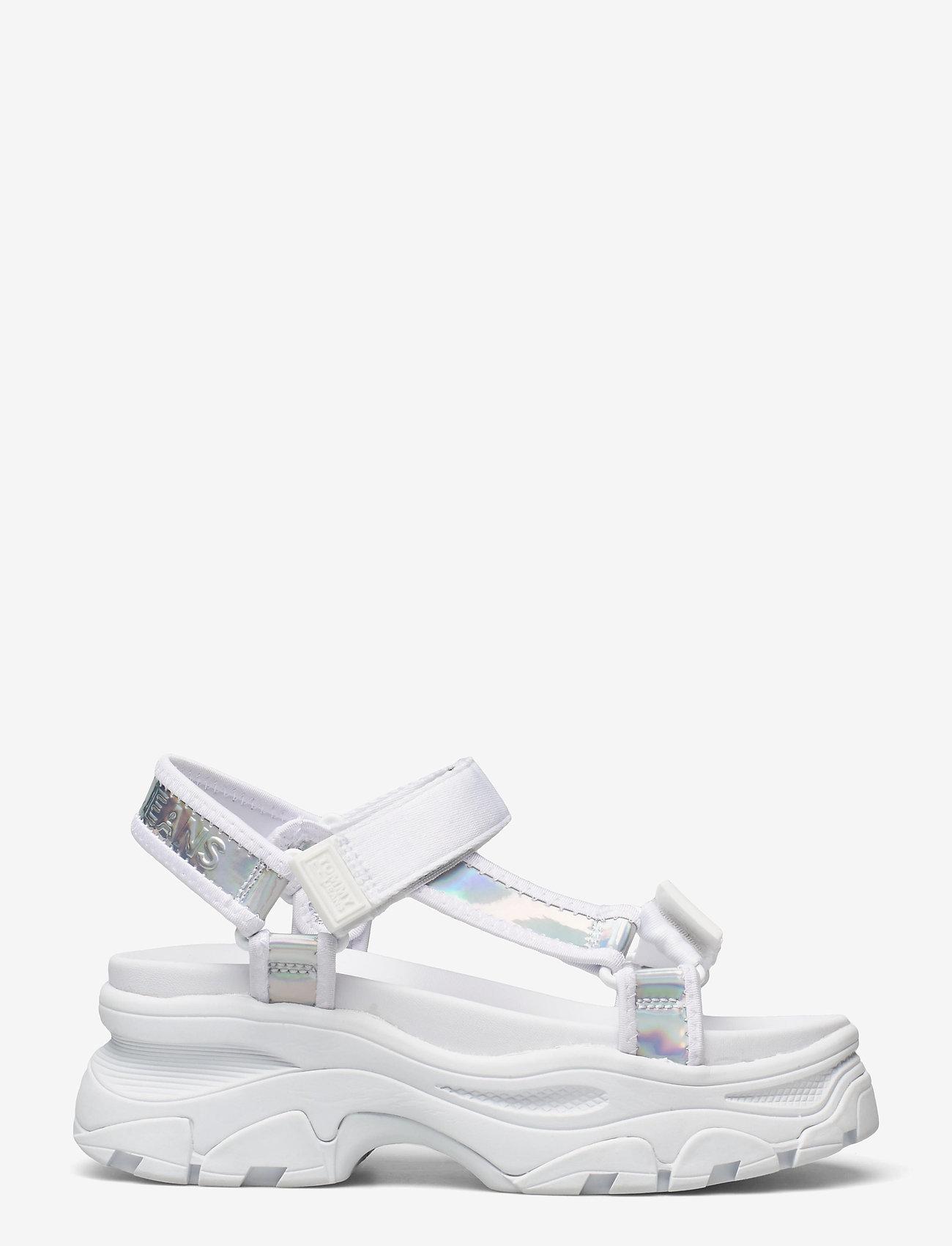Tommy Hilfiger - IRIDESCENT HYBRID SANDAL - flat sandals - white - 1