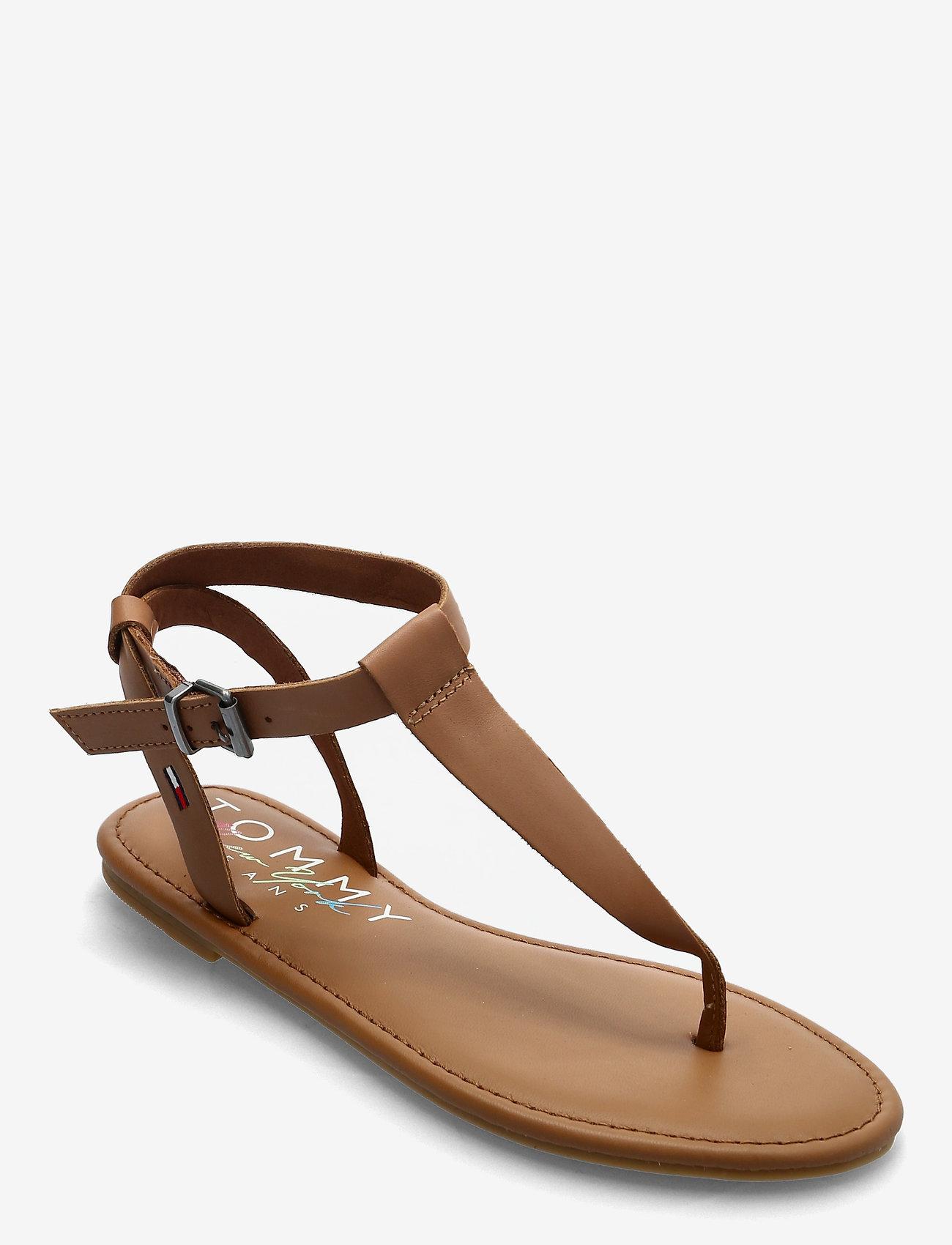 Tommy Hilfiger - ESSENTIAL TOE POST FLAT SANDAL - flat sandals - summer cognac - 0
