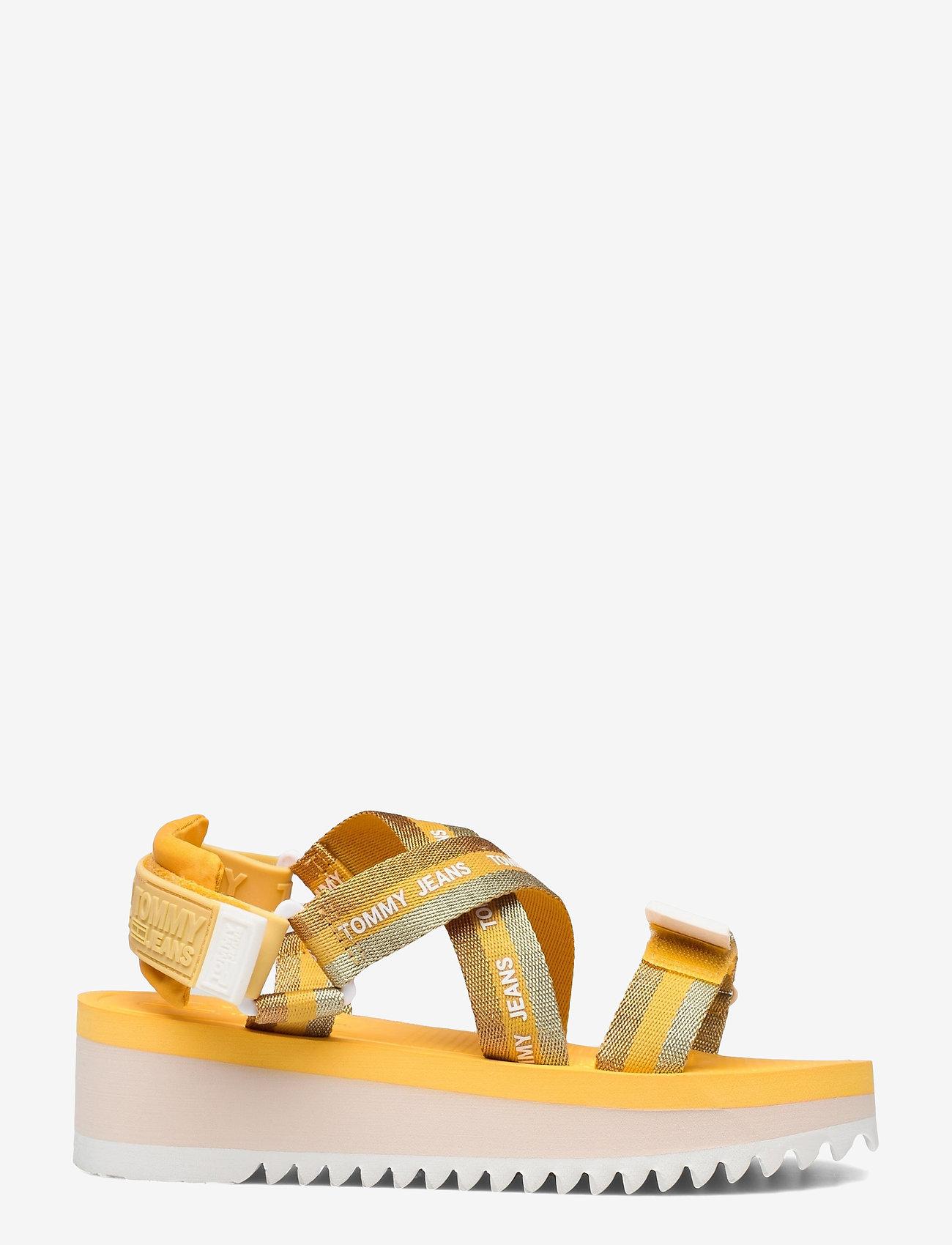 Tommy Hilfiger - LUREX WEBBING STRAPPY SANDAL - flat sandals - florida orange - 1