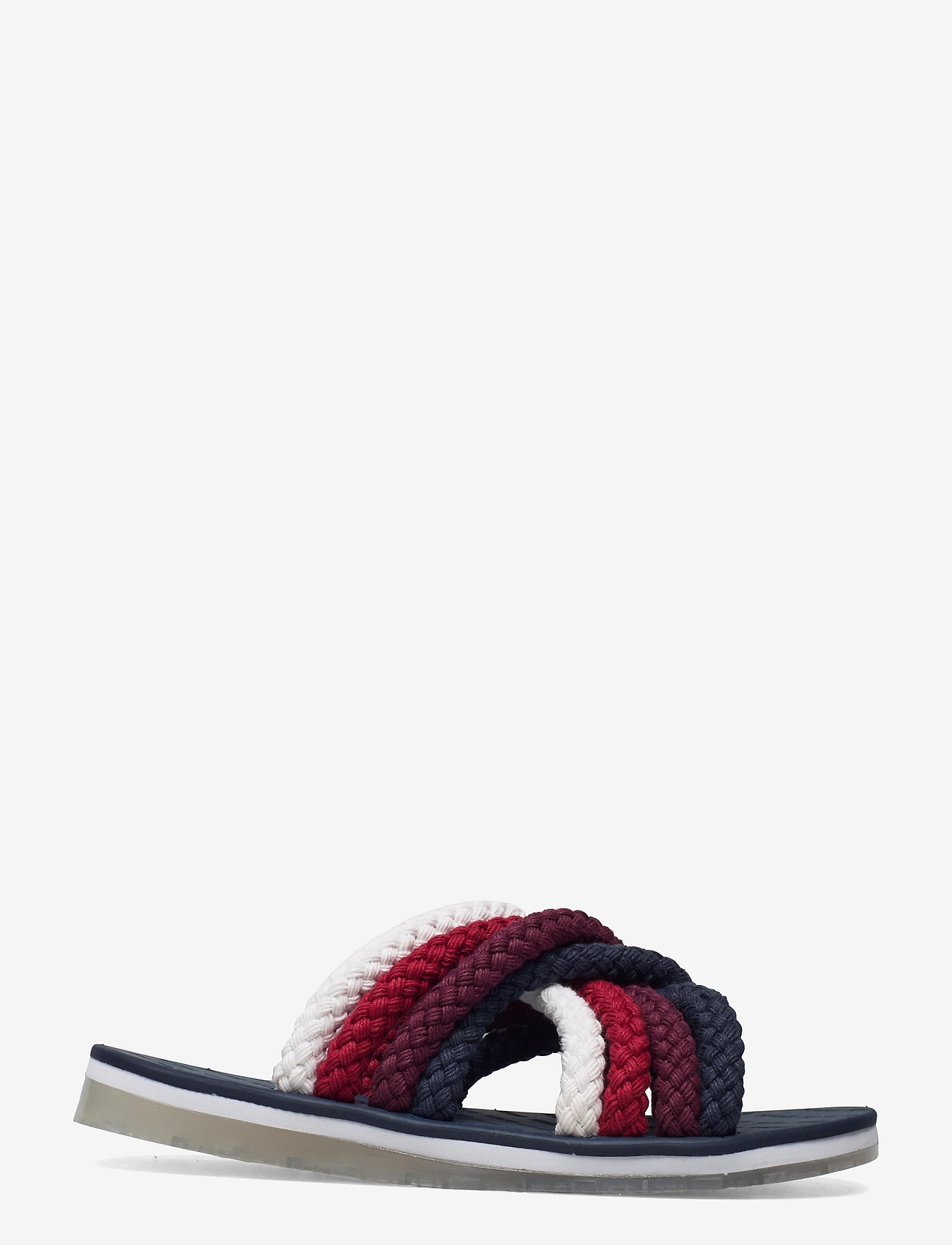 Tommy Hilfiger - CROSS STRAP MULE SANDAL - flat sandals - twilight navy - 1