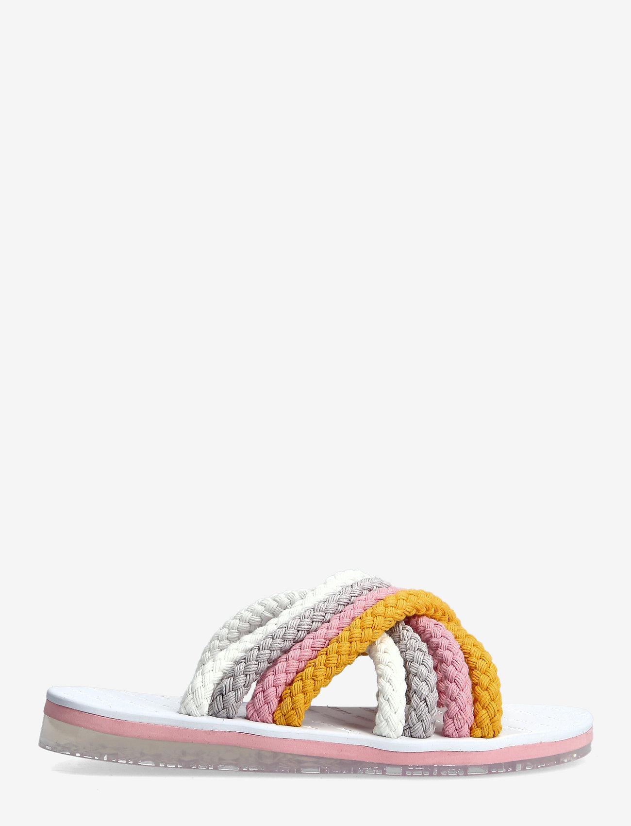 Tommy Hilfiger - CROSS STRAP MULE SANDAL - flat sandals - white - 1