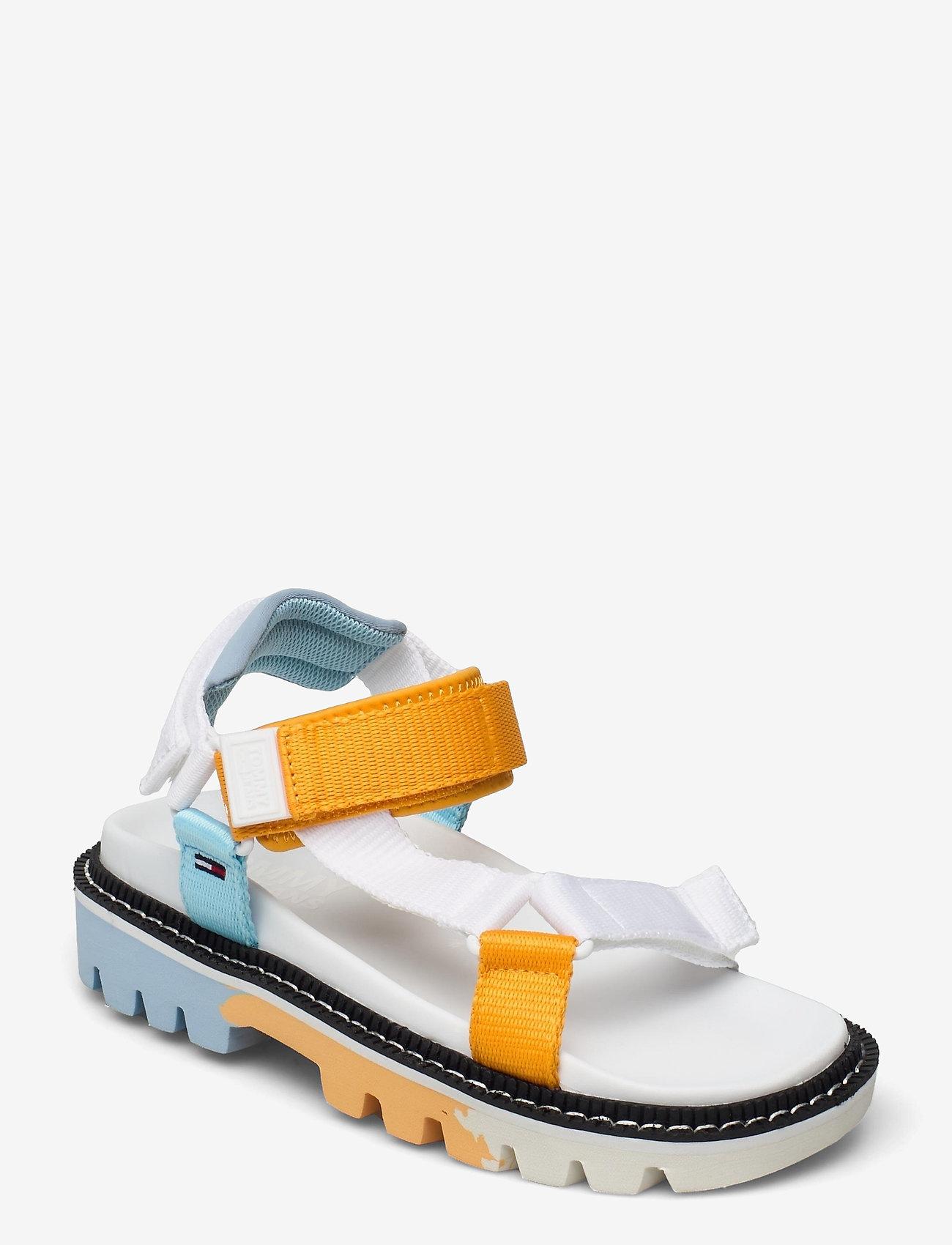 Tommy Hilfiger - COLOR POP TOMMY JEANS SANDAL - flat sandals - white - 0