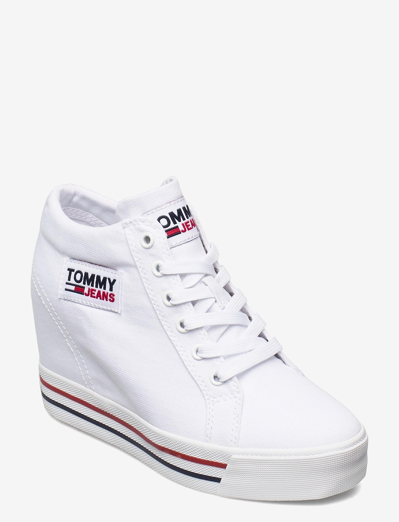 Tommy Hilfiger - TOMMY JEANS WEDGE SNEAKER - hoge sneakers - white - 0
