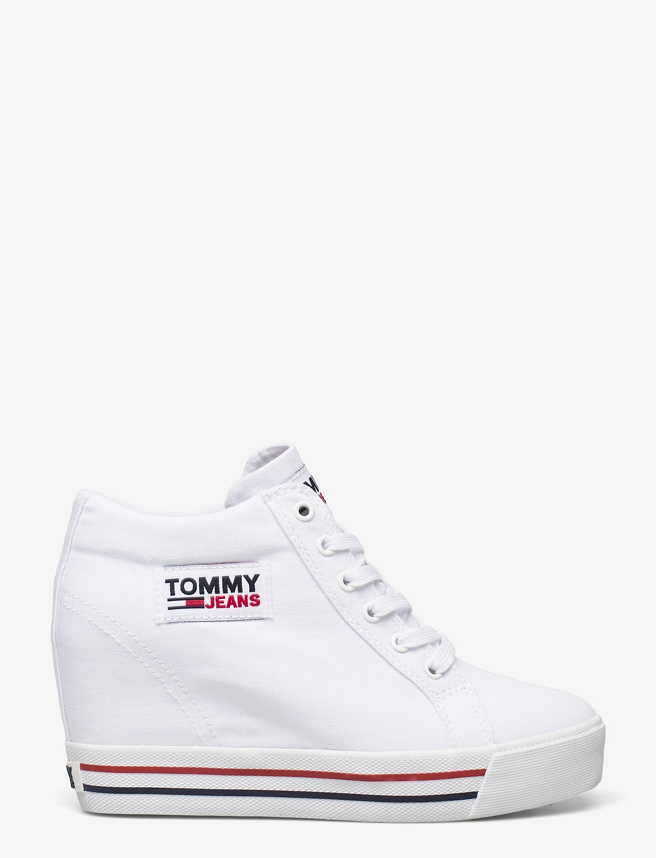 Tommy Hilfiger - TOMMY JEANS WEDGE SNEAKER - hoge sneakers - white - 1
