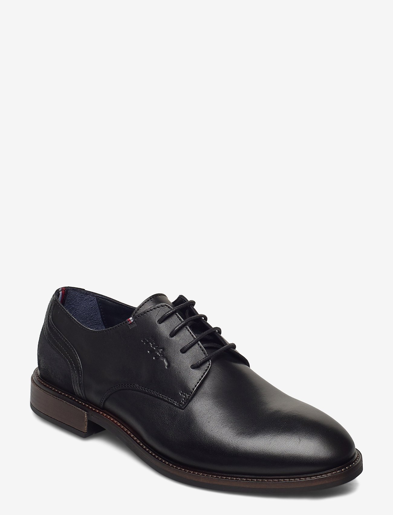 Tommy Hilfiger - ELEVATED LEATHER MIX SHOE - laced shoes - black - 0
