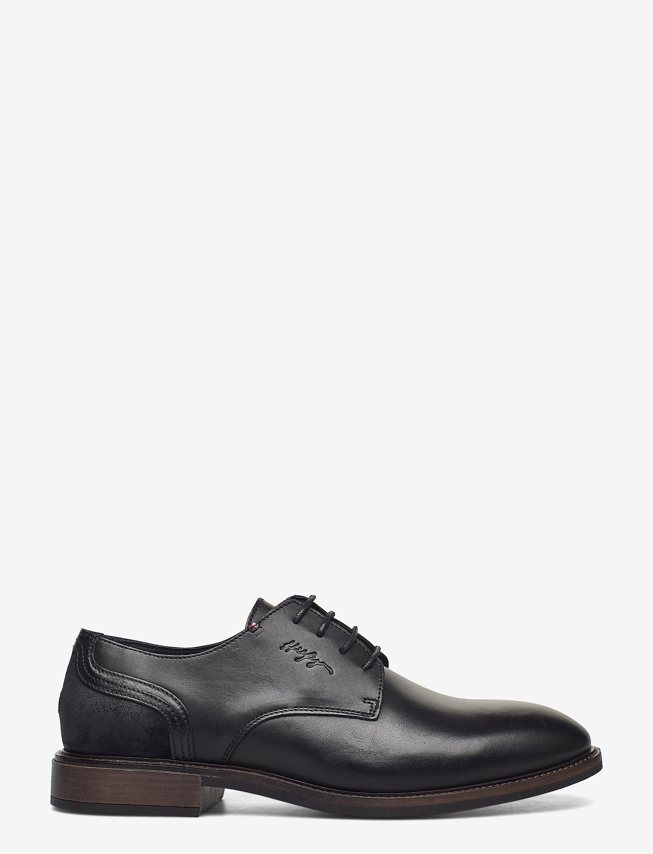 Tommy Hilfiger - ELEVATED LEATHER MIX SHOE - laced shoes - black - 1