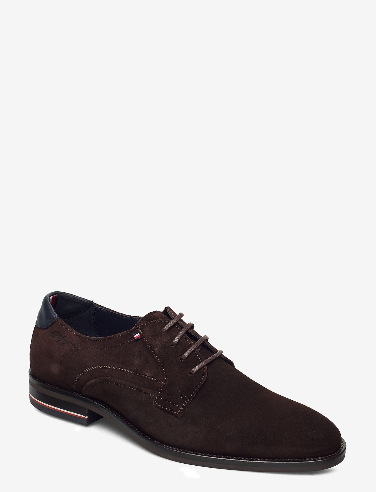 Tommy Hilfiger - SIGNATURE HILFIGER SUEDE SHOE - laced shoes - cocoa - 0