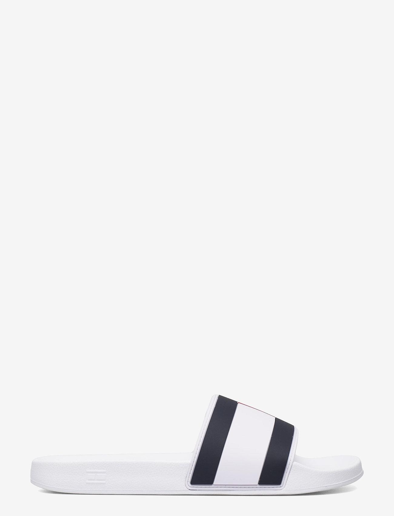 Tommy Hilfiger - ESSENTIAL FLAG POOL SLIDE - pool sliders - white - 1