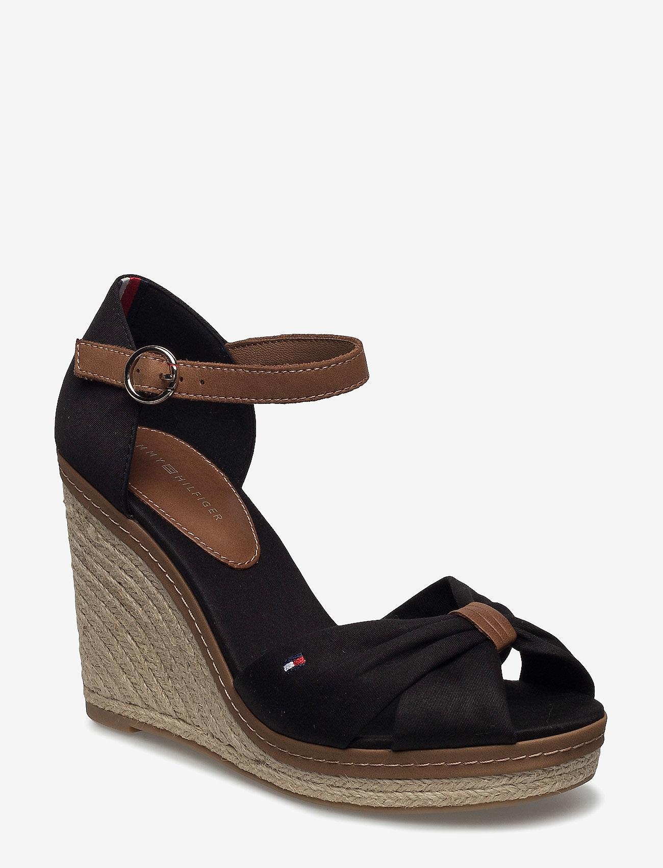 Tommy Hilfiger - ICONIC ELENA SANDAL - heeled espadrilles - black - 0