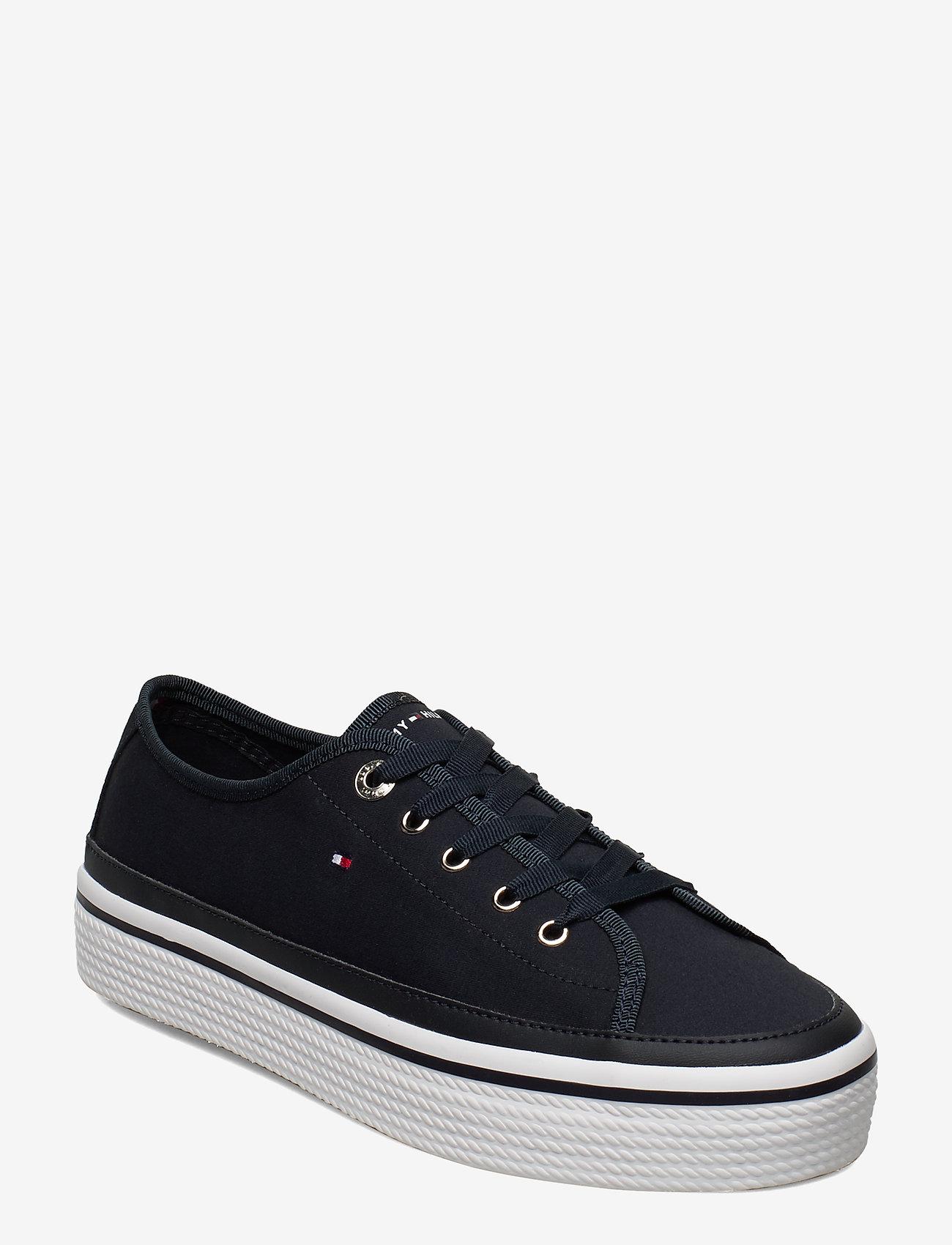 Tommy Hilfiger - CORPORATE FLATFORM SNEAKER - low top sneakers - midnight - 0