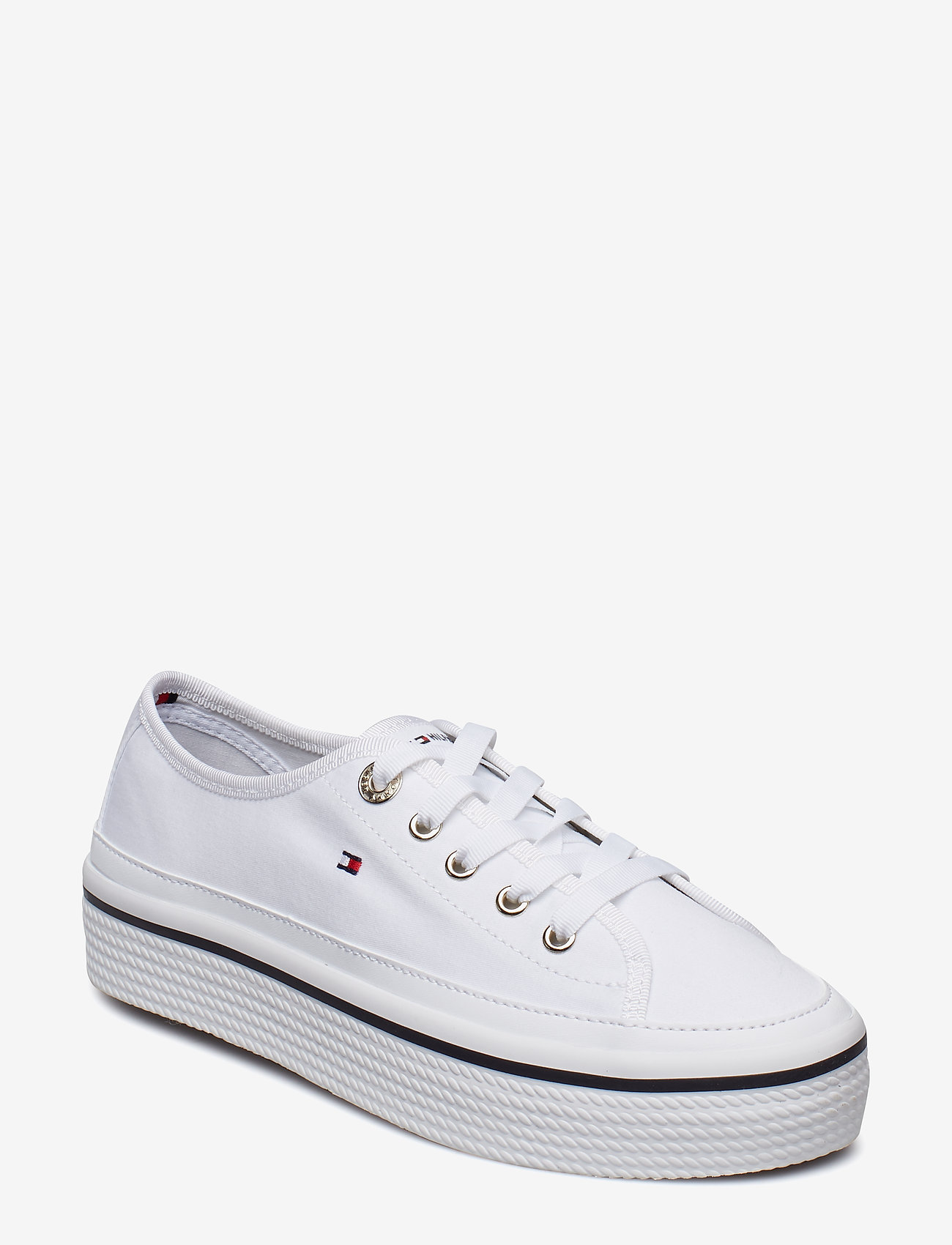 Tommy Hilfiger - CORPORATE FLATFORM SNEAKER - low top sneakers - white - 0