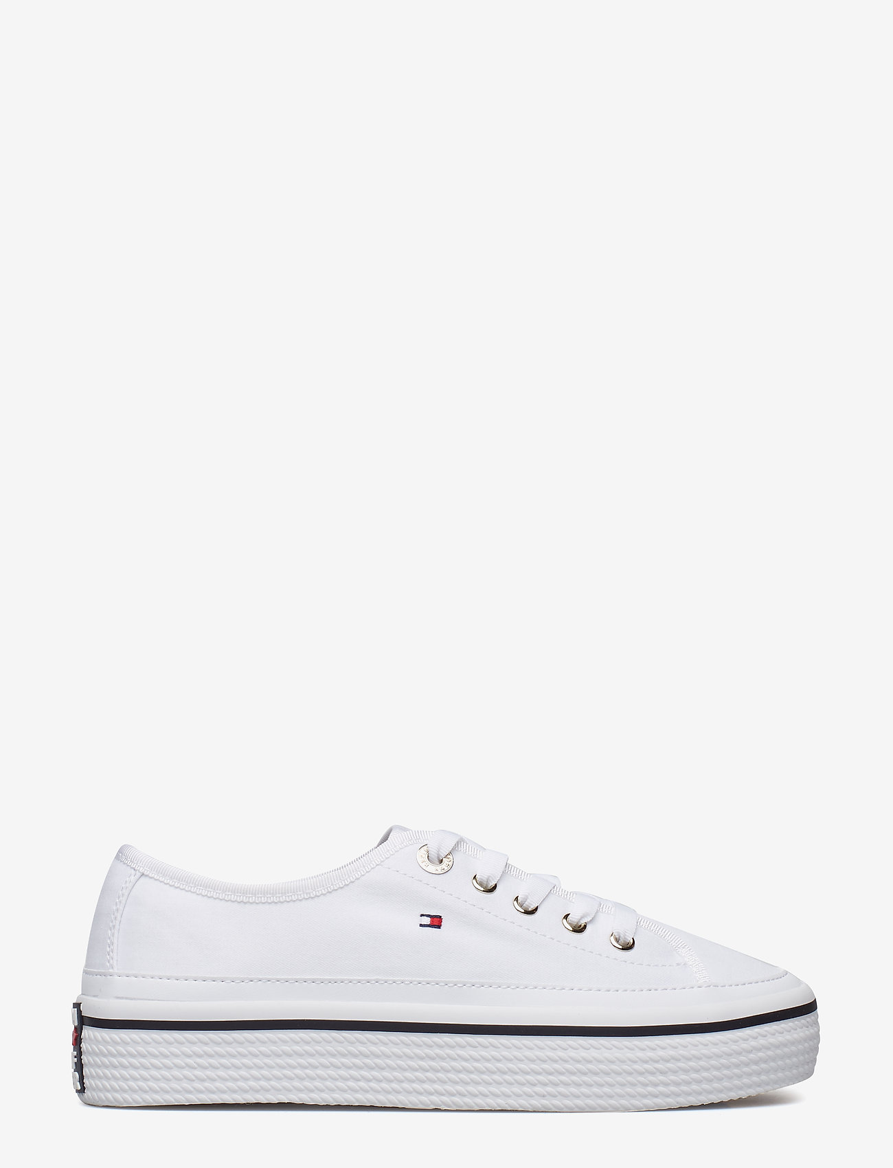 Tommy Hilfiger - CORPORATE FLATFORM SNEAKER - low top sneakers - white - 1