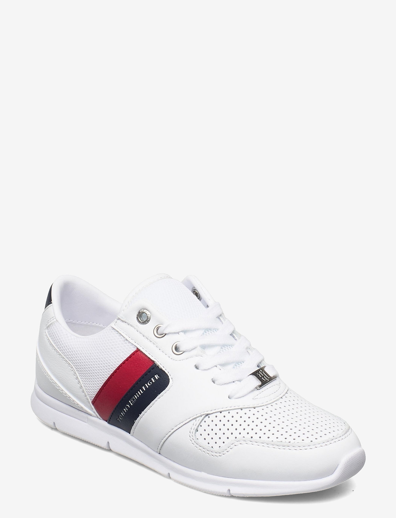 Tommy Hilfiger - LIGHTWEIGHT LEATHER SNEAKER - low top sneakers - rwb - 0