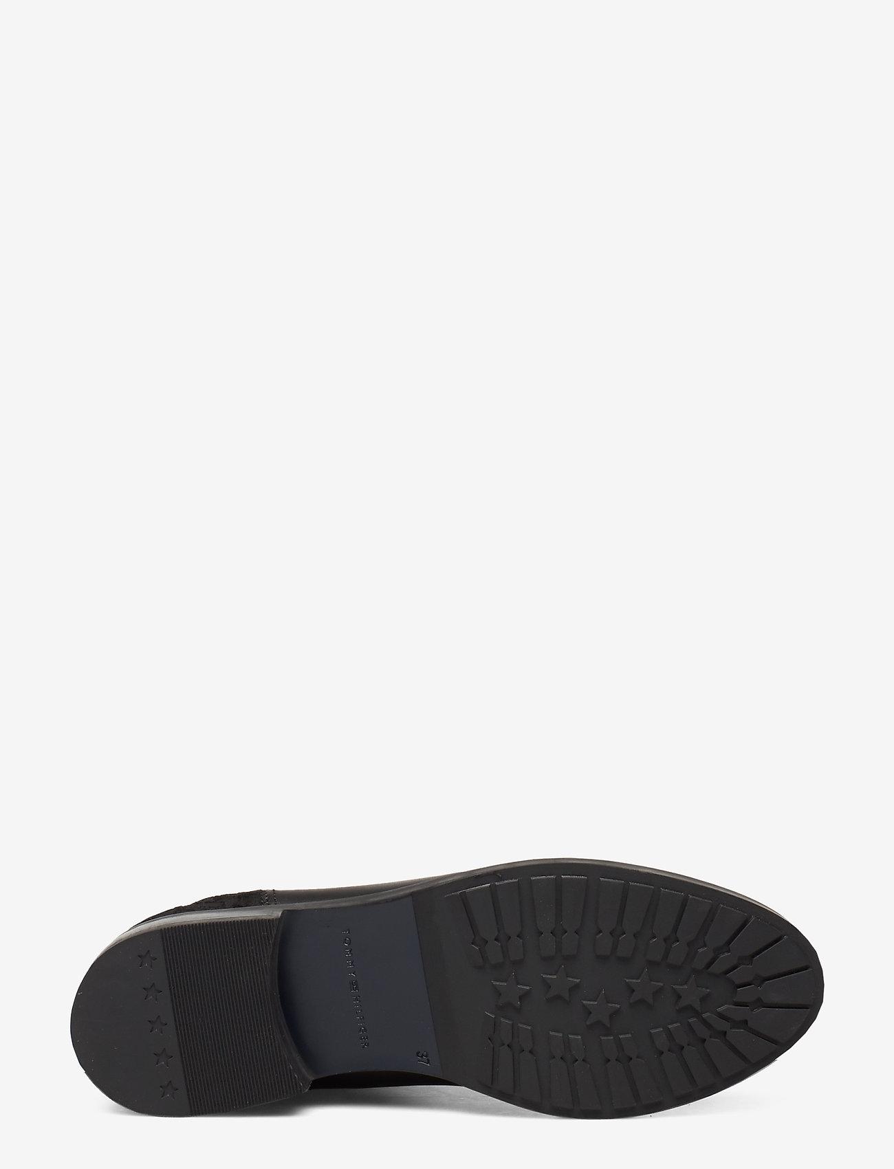 Sporty Monogram Flat Bootie (Black) - Tommy Hilfiger