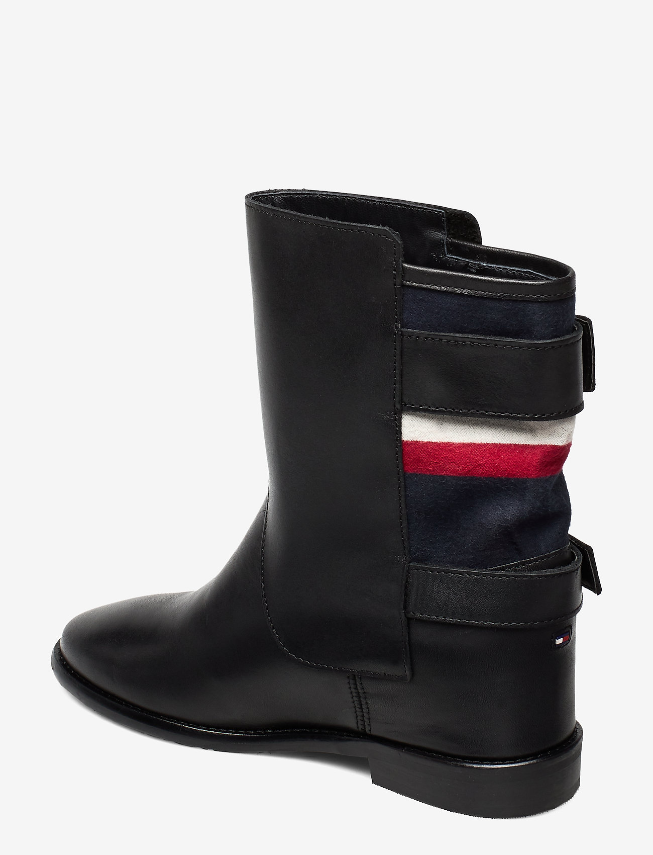 Modern Blanket Wedge Bootie (Black) - Tommy Hilfiger