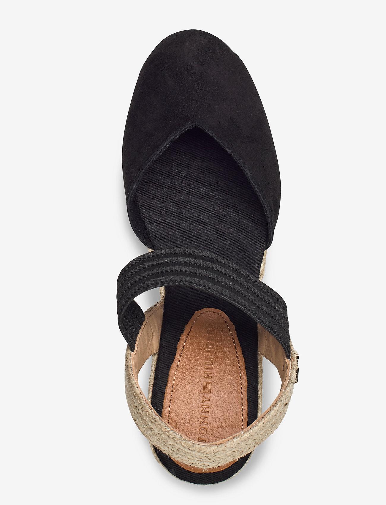 New Th Basbasic Toe Wedge (Black) - Tommy Hilfiger