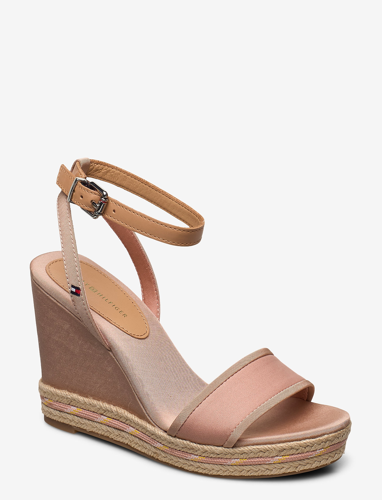 Tommy Hilfiger - SPORTY TEXTILE HIGH WEDGE - espadrilles met sleehak - sandbank - 0