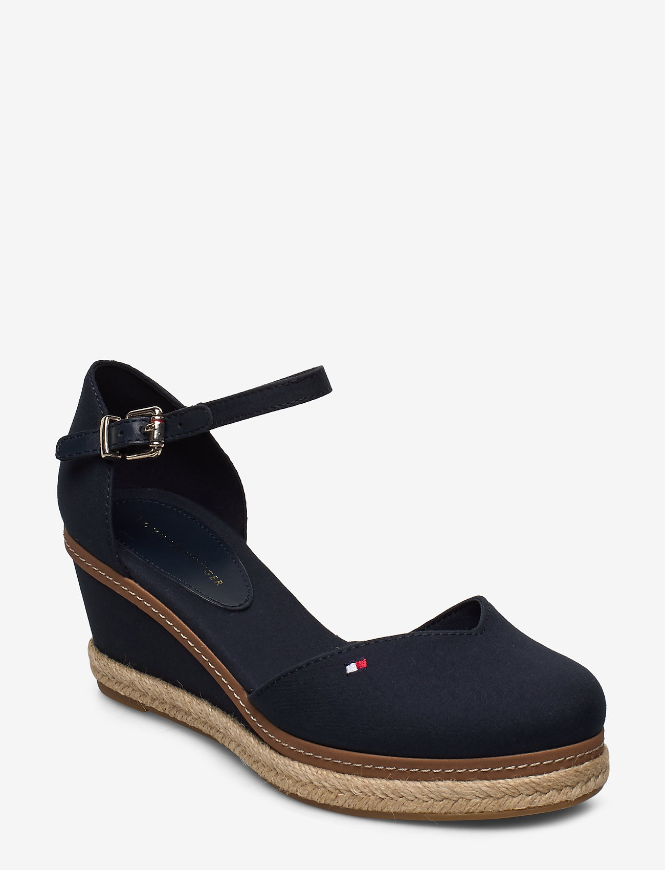 Tommy Hilfiger - BASIC CLOSED TOE MID WEDGE - wedges - desert sky - 0