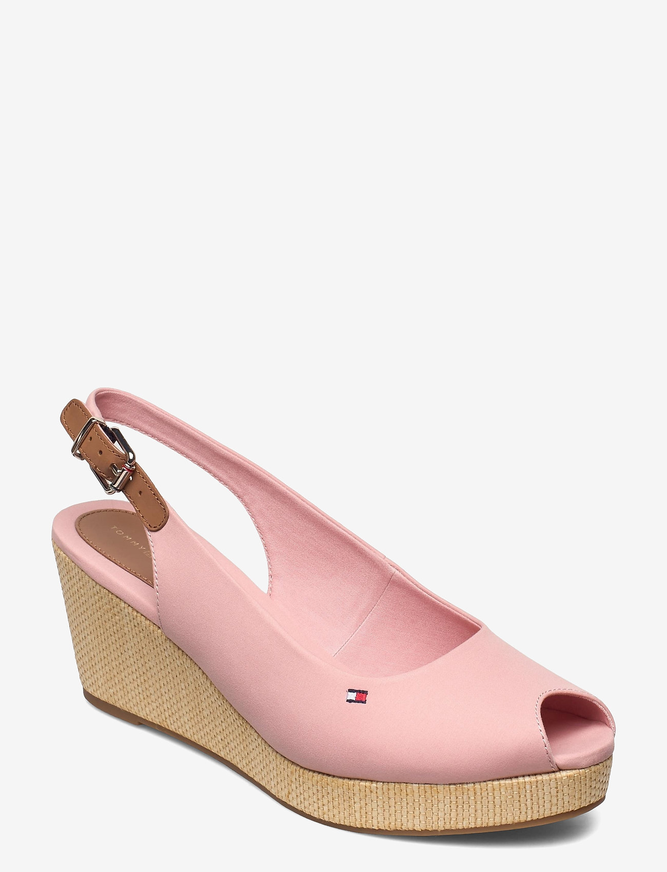 Tommy Hilfiger - ICONIC ELBA SLING BACK WEDGE - wedges - soothing pink - 0