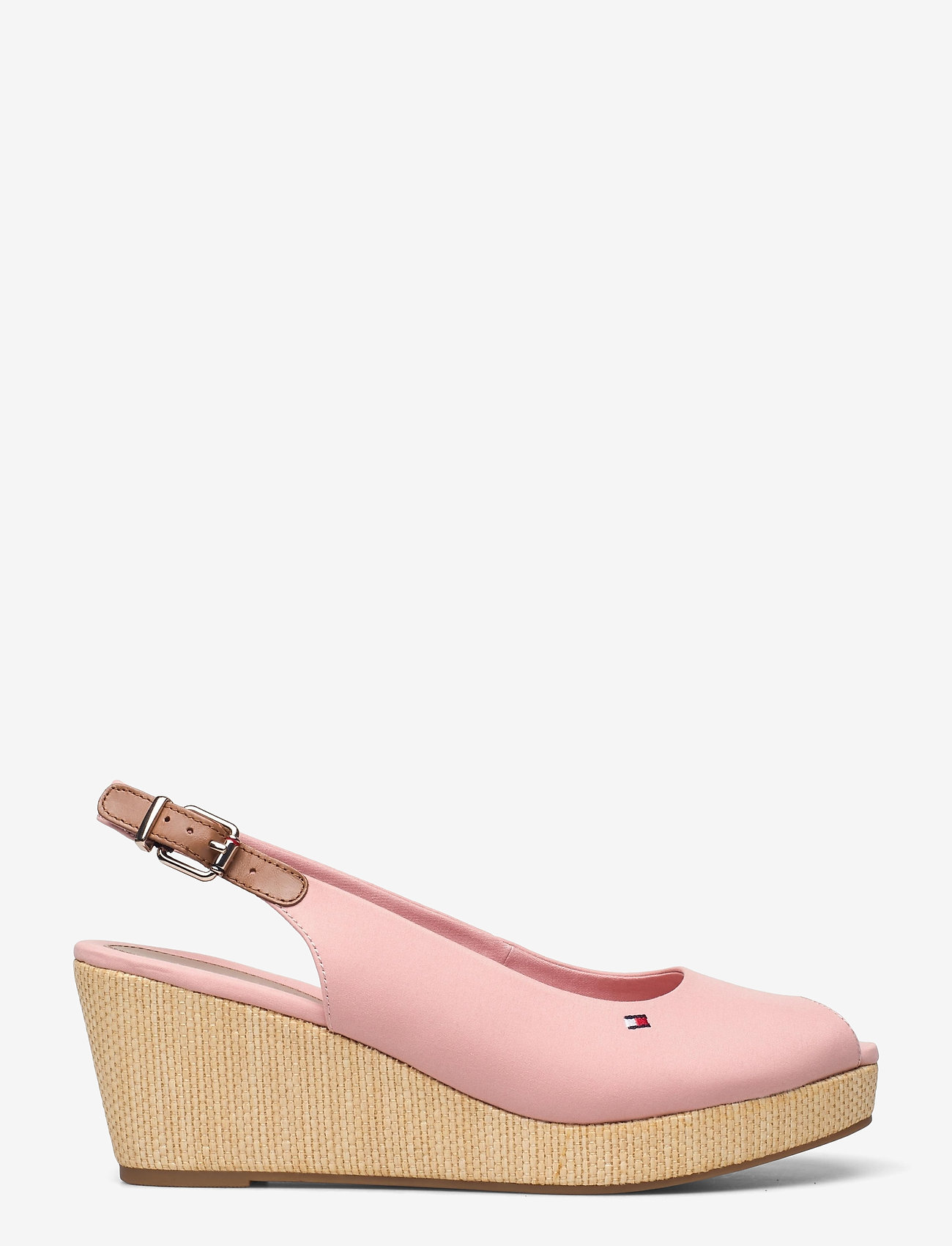 Tommy Hilfiger - ICONIC ELBA SLING BACK WEDGE - wedges - soothing pink - 1