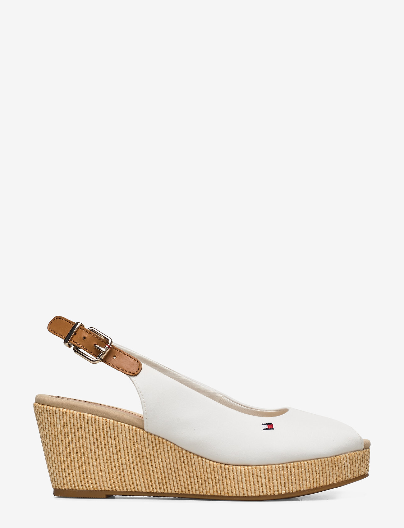 Tommy Hilfiger - ICONIC ELBA SLING BACK WEDGE - sleehakken - ivory - 1