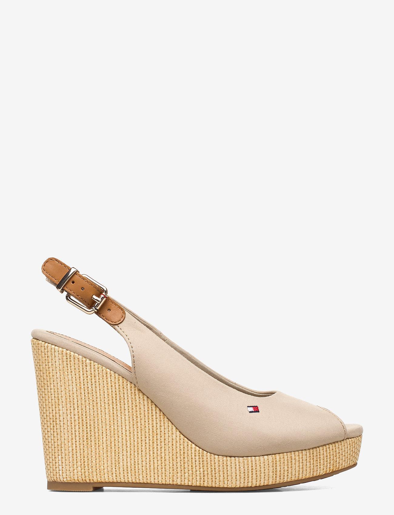 Tommy Hilfiger - ICONIC ELENA SLING BACK WEDGE - heeled espadrilles - stone - 1