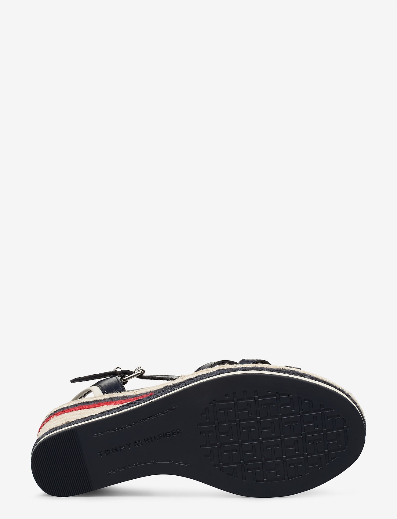 Tommy Stripy High Wedge (Sport Navy) - Tommy Hilfiger