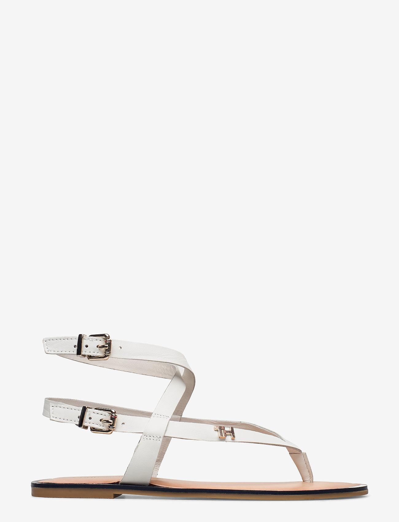 Tommy Hilfiger - FEM ELASTIC FLAT SANDAL - flade sandaler - white - 1