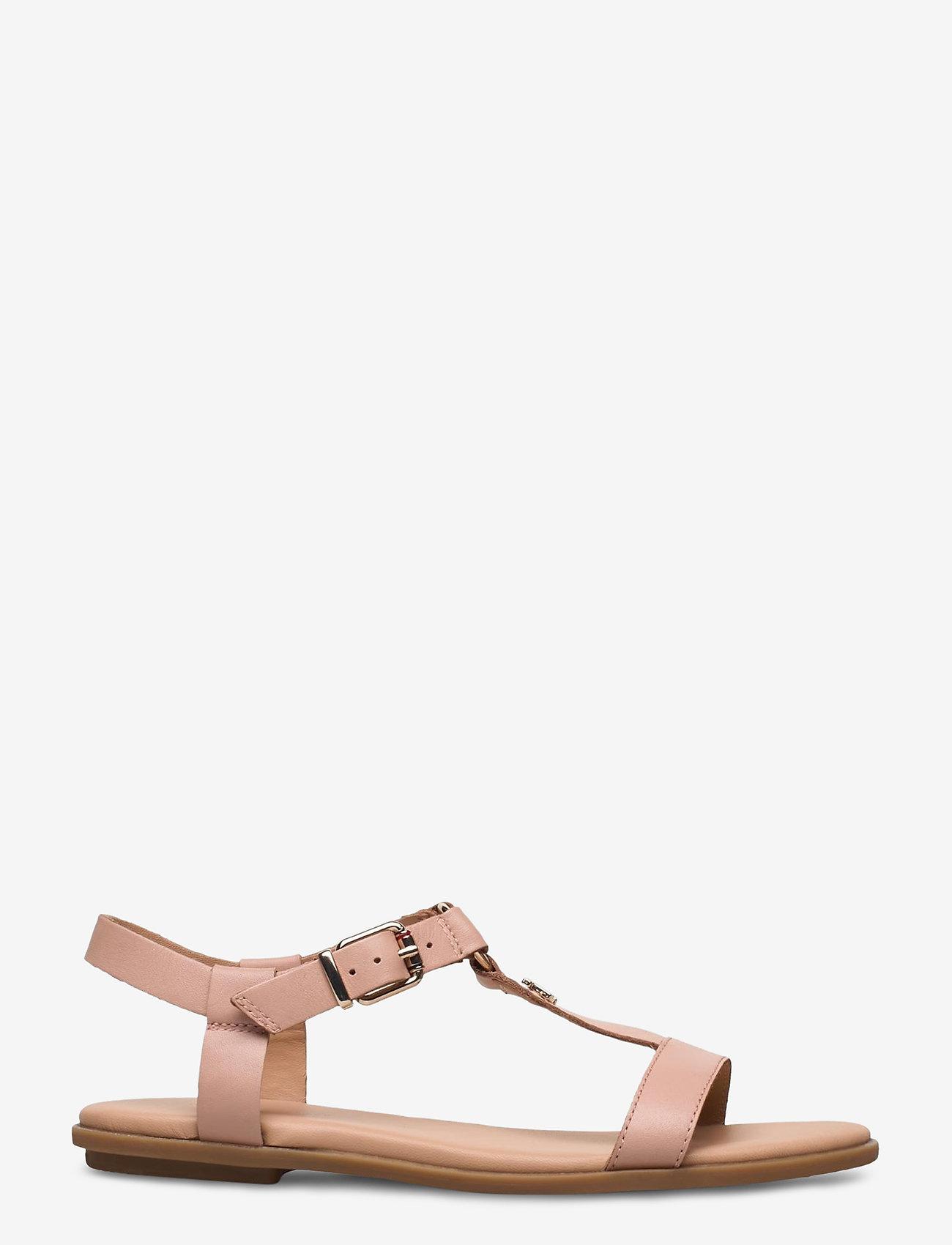 Tommy Hilfiger - FEMININE LEATHER FLAT SANDAL - flade sandaler - sandbank - 1