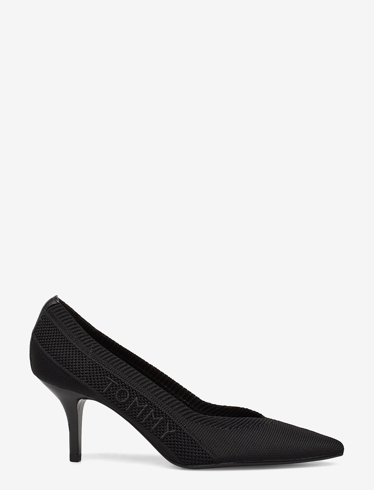 Tommy Hilfiger - TOMMY KNIT MID HEEL PUMP - klassiske pumps - black - 1