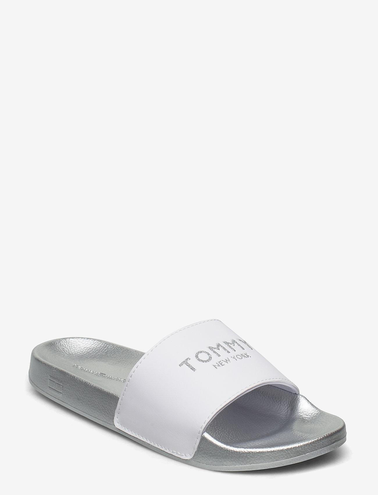 Tommy Hilfiger - TH GLITTER POOL SLIDE - pool sliders - white - 0