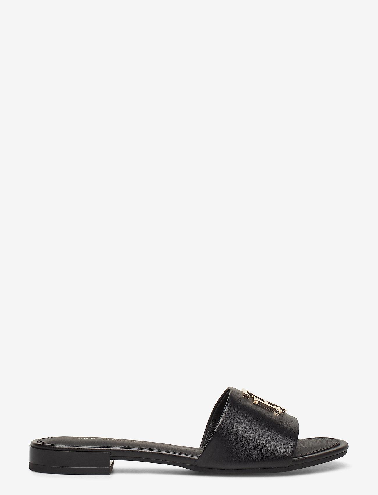 Tommy Hilfiger - TH HARDWARE FLAT MULE - flade sandaler - black - 1