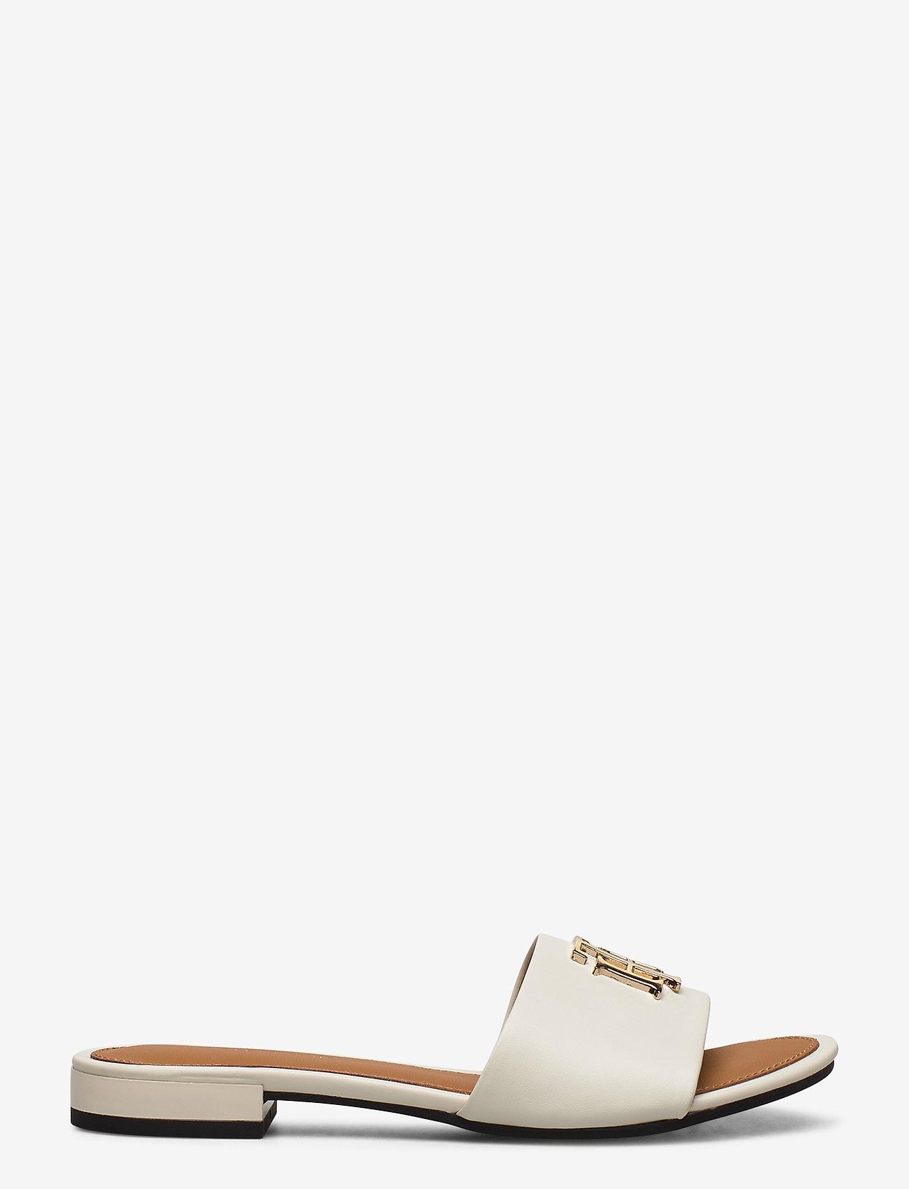 Tommy Hilfiger - TH HARDWARE FLAT MULE - flade sandaler - ivory - 1