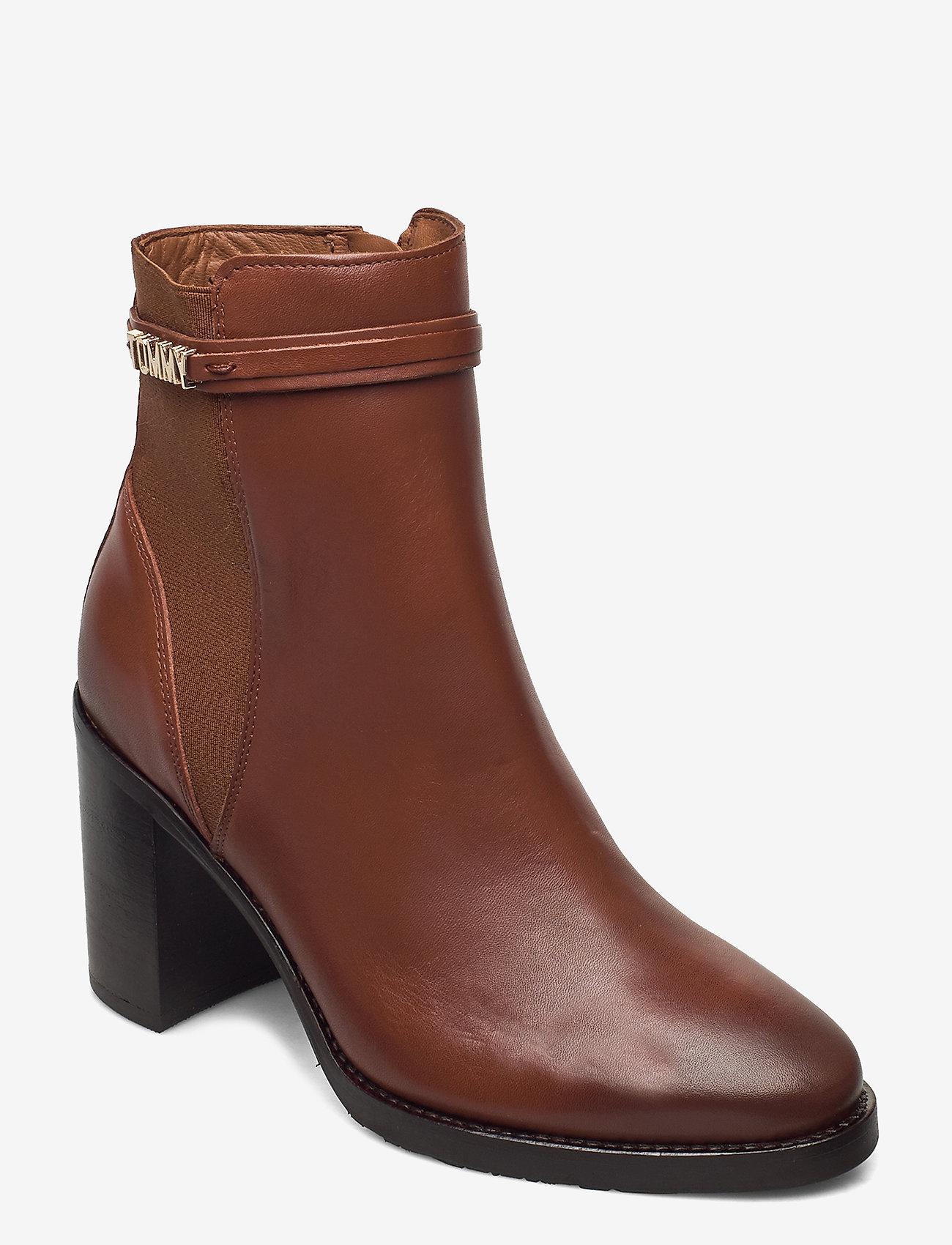 Tommy Hilfiger - BLOCK BRANDING HIGH HEEL BOOT - heeled ankle boots - pumpkin paradise - 0