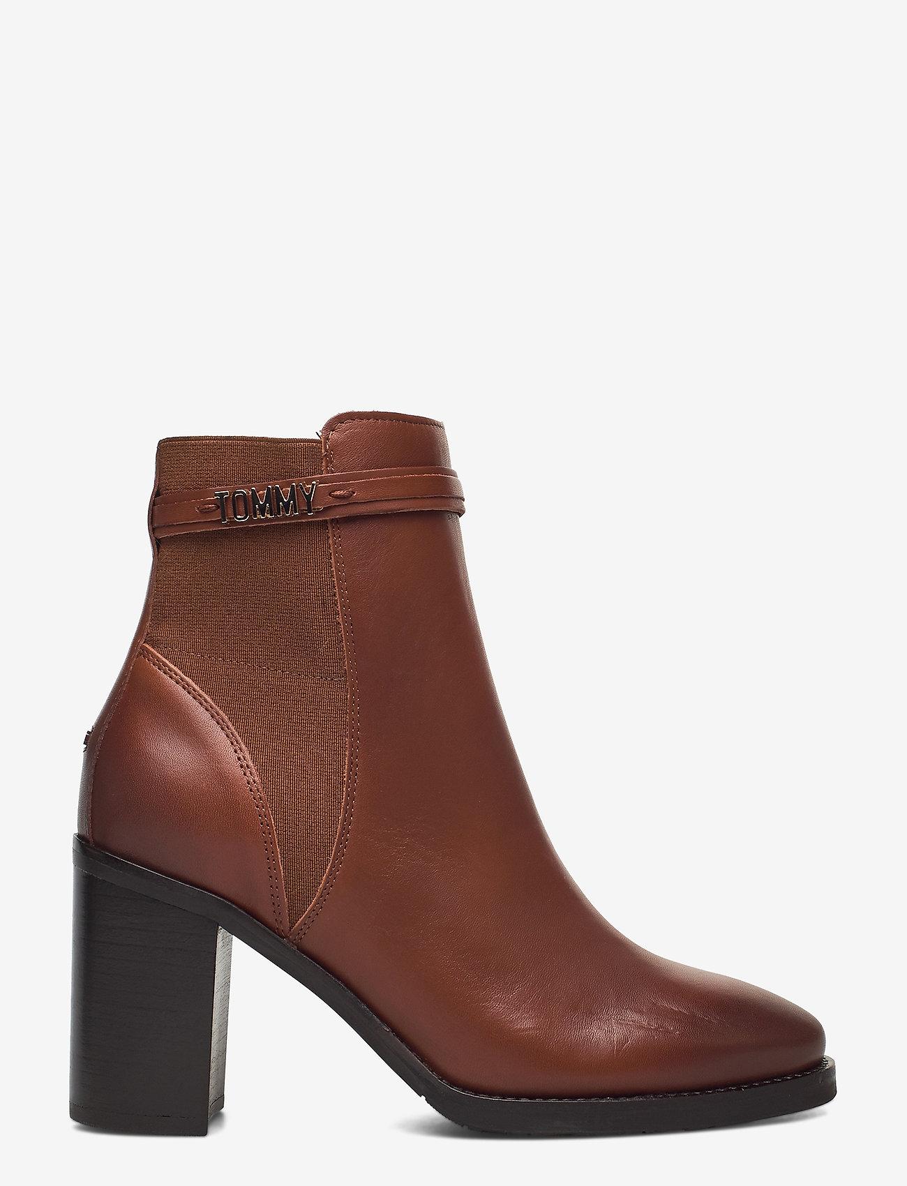Tommy Hilfiger - BLOCK BRANDING HIGH HEEL BOOT - heeled ankle boots - pumpkin paradise - 1