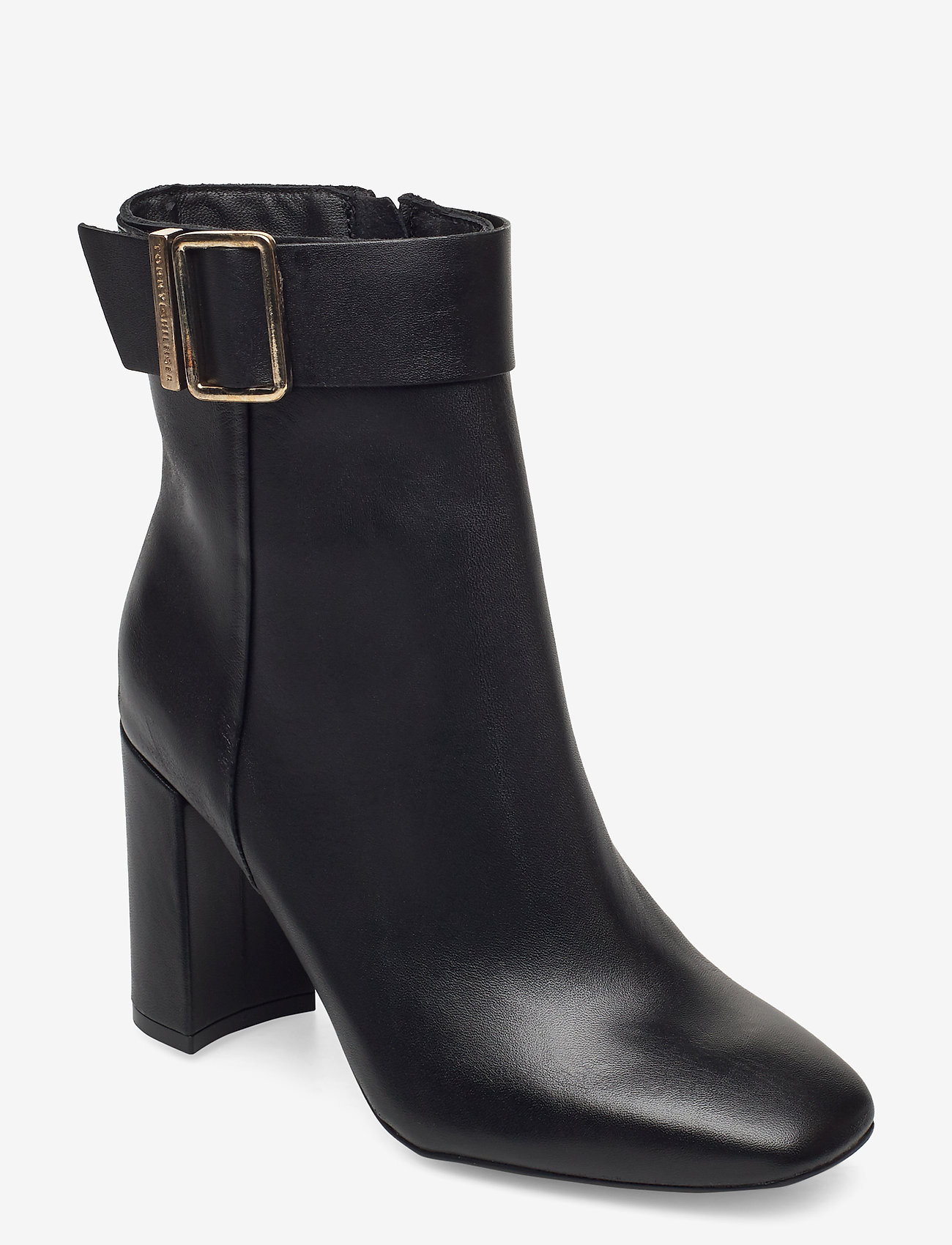 Tommy Hilfiger - BASIC SQUARE TOE BOOT - heeled ankle boots - black - 0