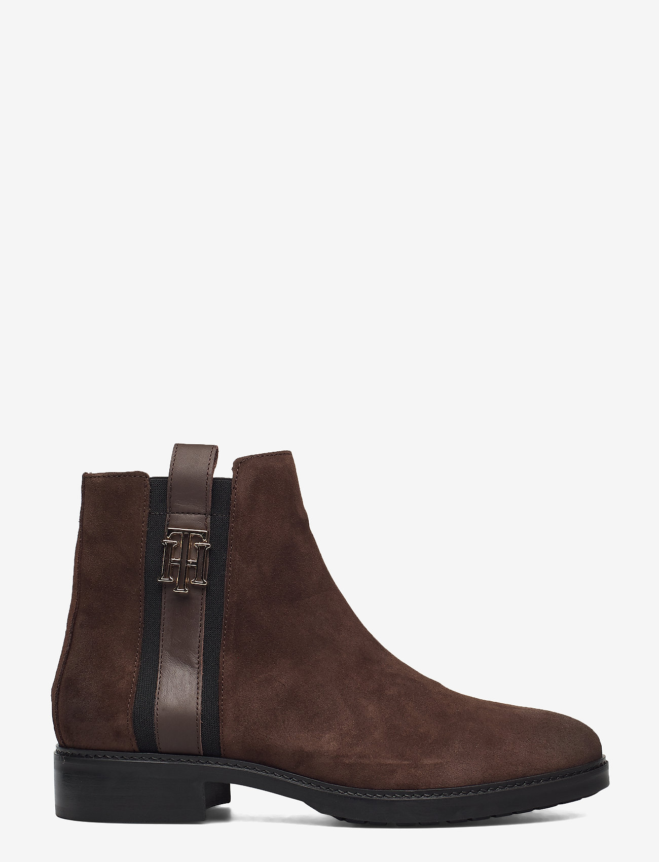 Tommy Hilfiger - TH INTERLOCK SUEDE FLAT BOOT - cocoa - 1