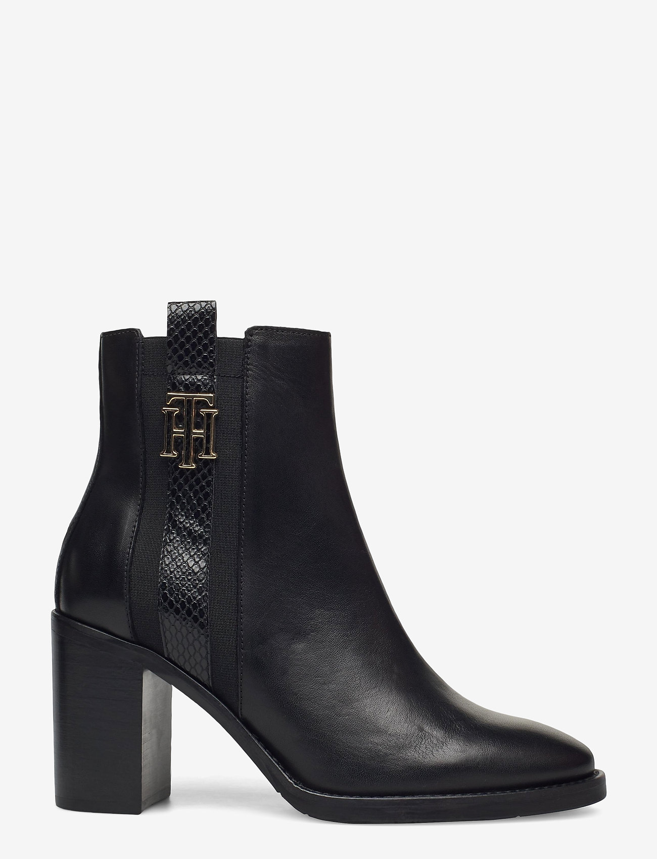 Tommy Hilfiger - TH INTERLOCK HIGH HEEL BOOT - heeled ankle boots - black - 1