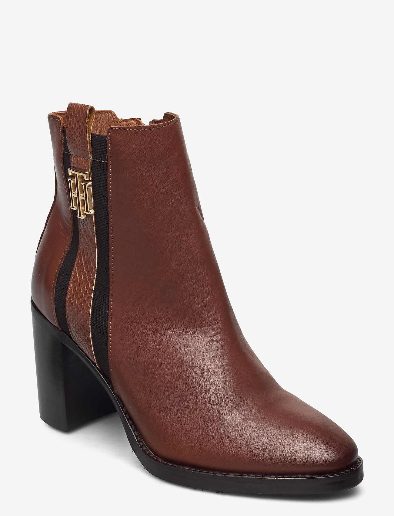Tommy Hilfiger - TH INTERLOCK HIGH HEEL BOOT - heeled ankle boots - pumpkin paradise - 0