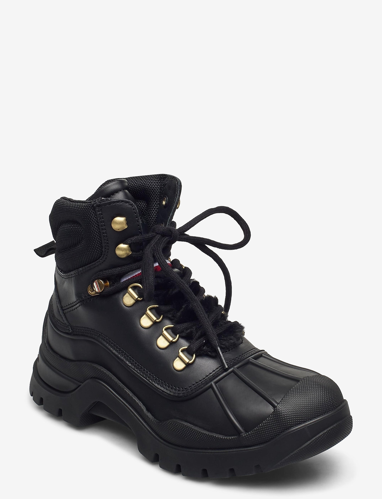 Tommy Hilfiger - OUTDOORSY TOMMY FLAT BOOT - flat ankle boots - black - 0